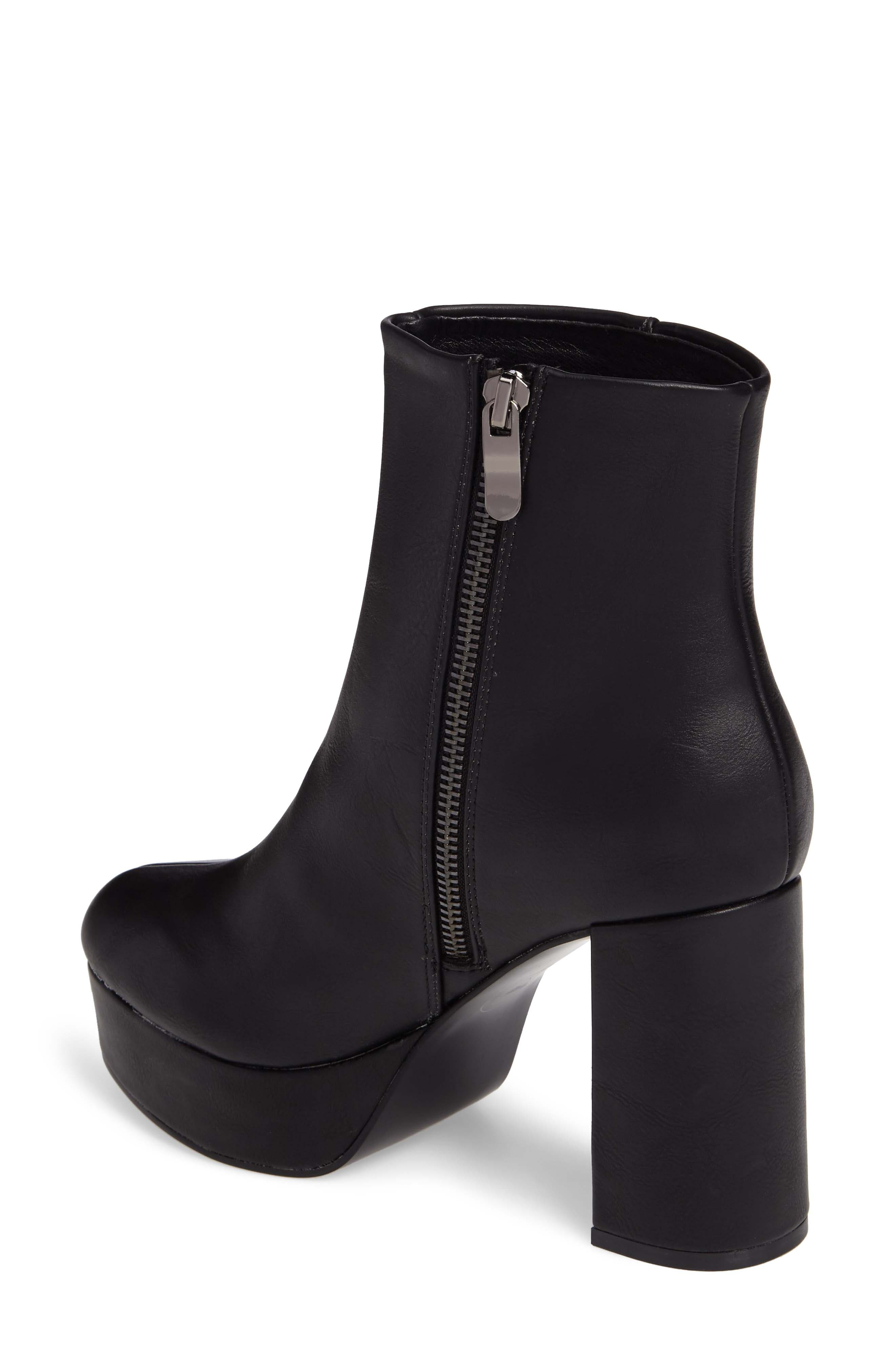 Nenna Platform Bootie,                             Alternate thumbnail 2, color,                             Black