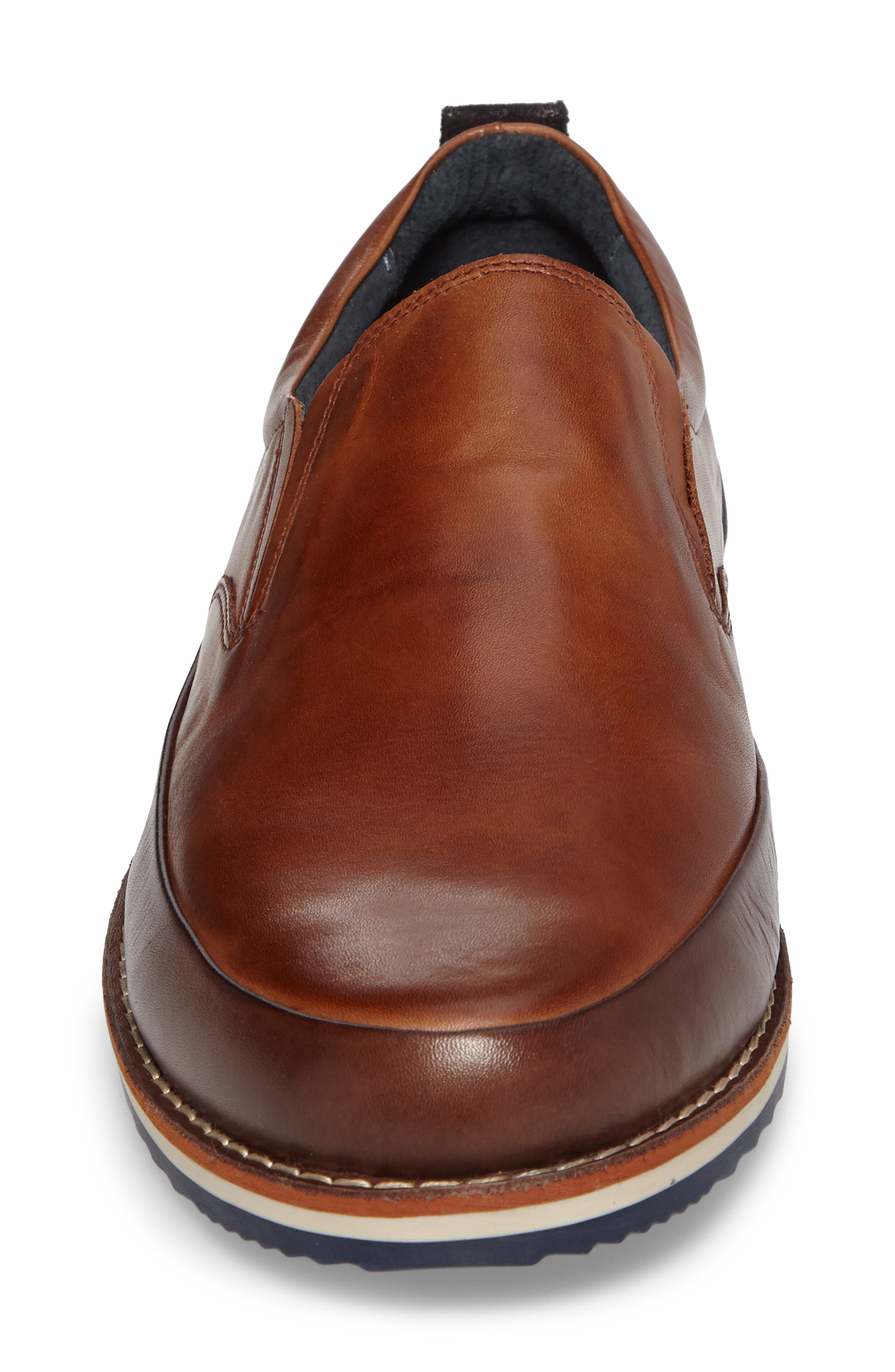 Biarritz Slip-On,                             Alternate thumbnail 4, color,                             Brown Leather