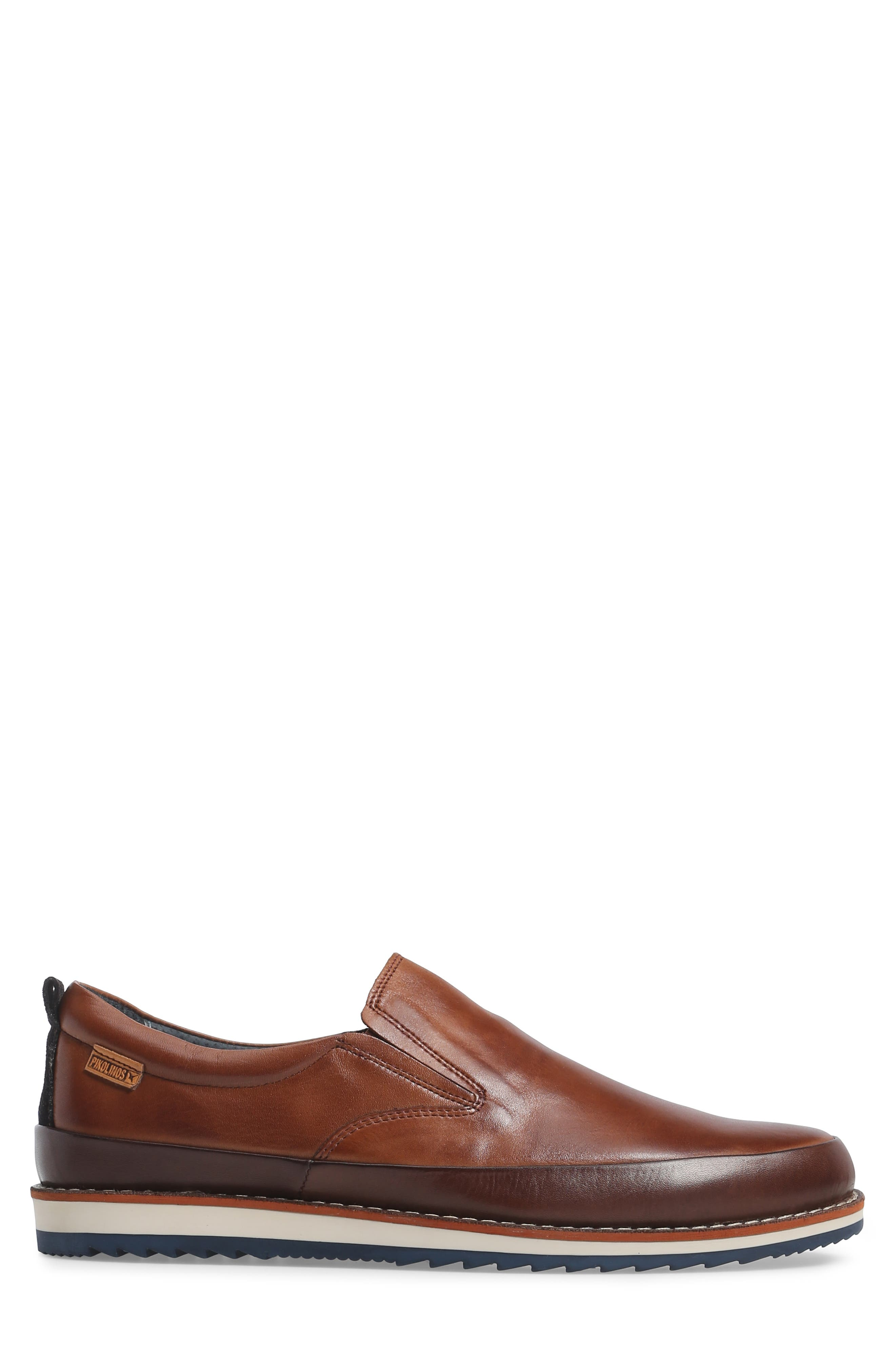 Biarritz Slip-On,                             Alternate thumbnail 3, color,                             Brown Leather
