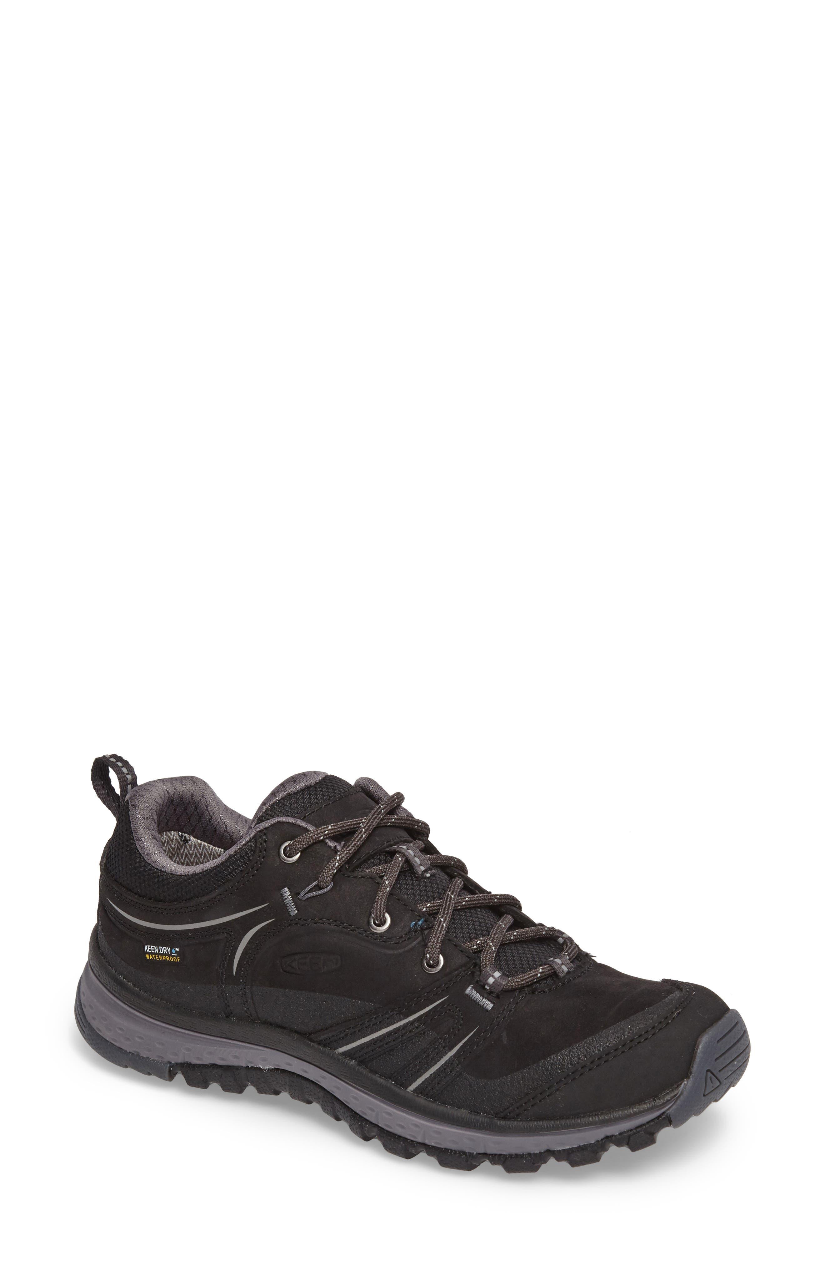 Terradora Waterproof Hiking Shoe,                         Main,                         color, Black/ Steel Grey Nubuck