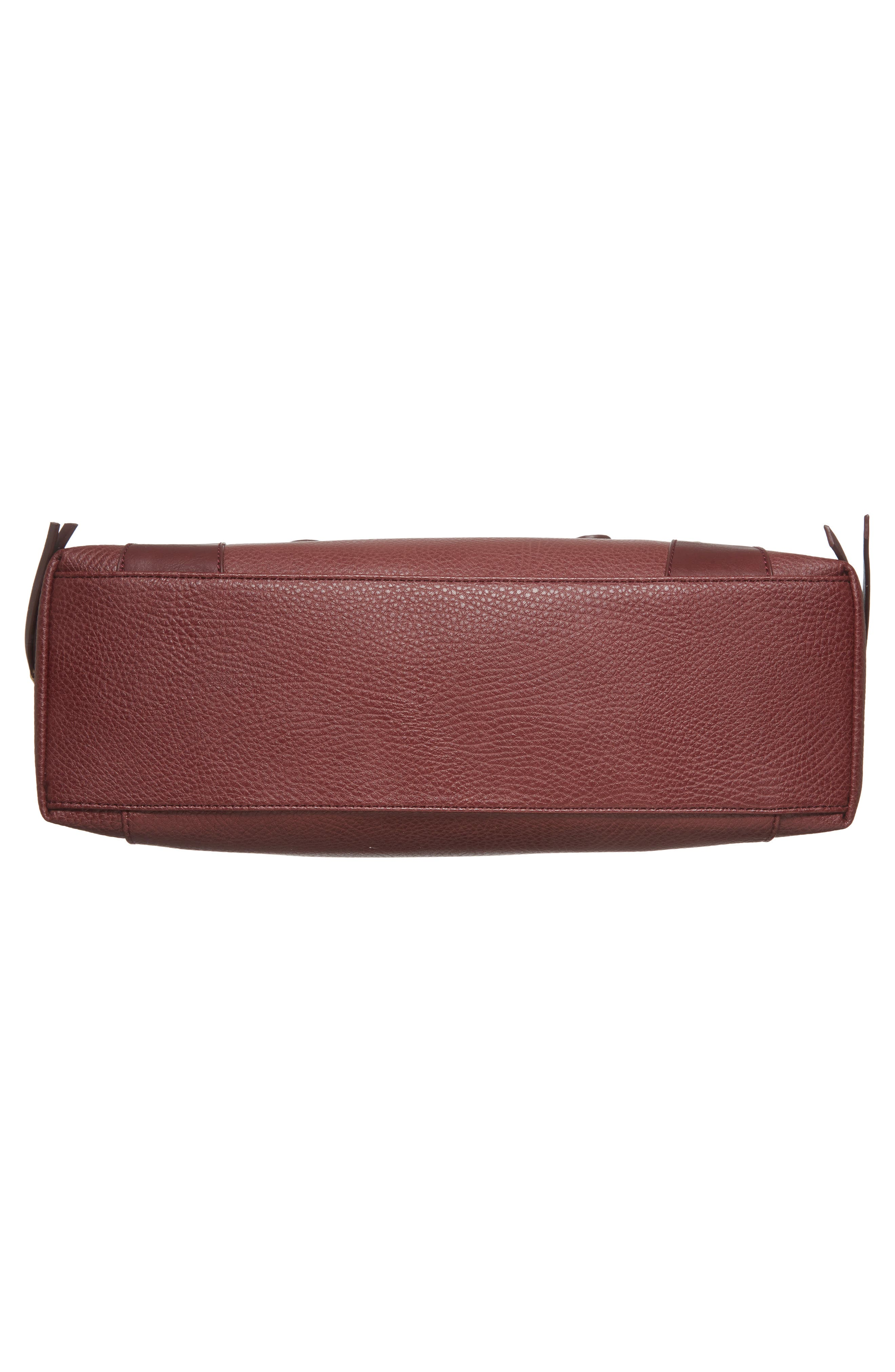 'Susan' Winged Faux Leather Tote,                             Alternate thumbnail 6, color,                             Oxblood