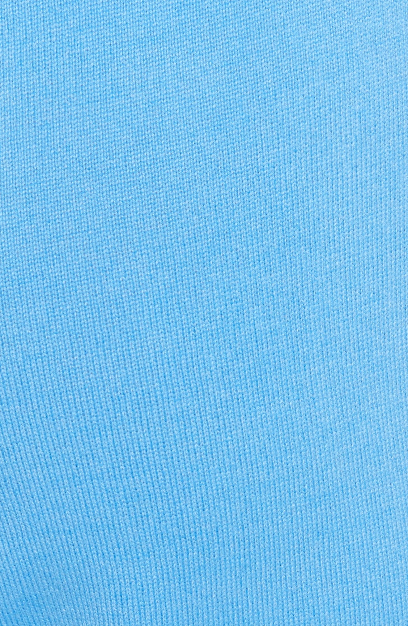 Cashmere Jersey Pants,                             Alternate thumbnail 5, color,                             Bright Niagara