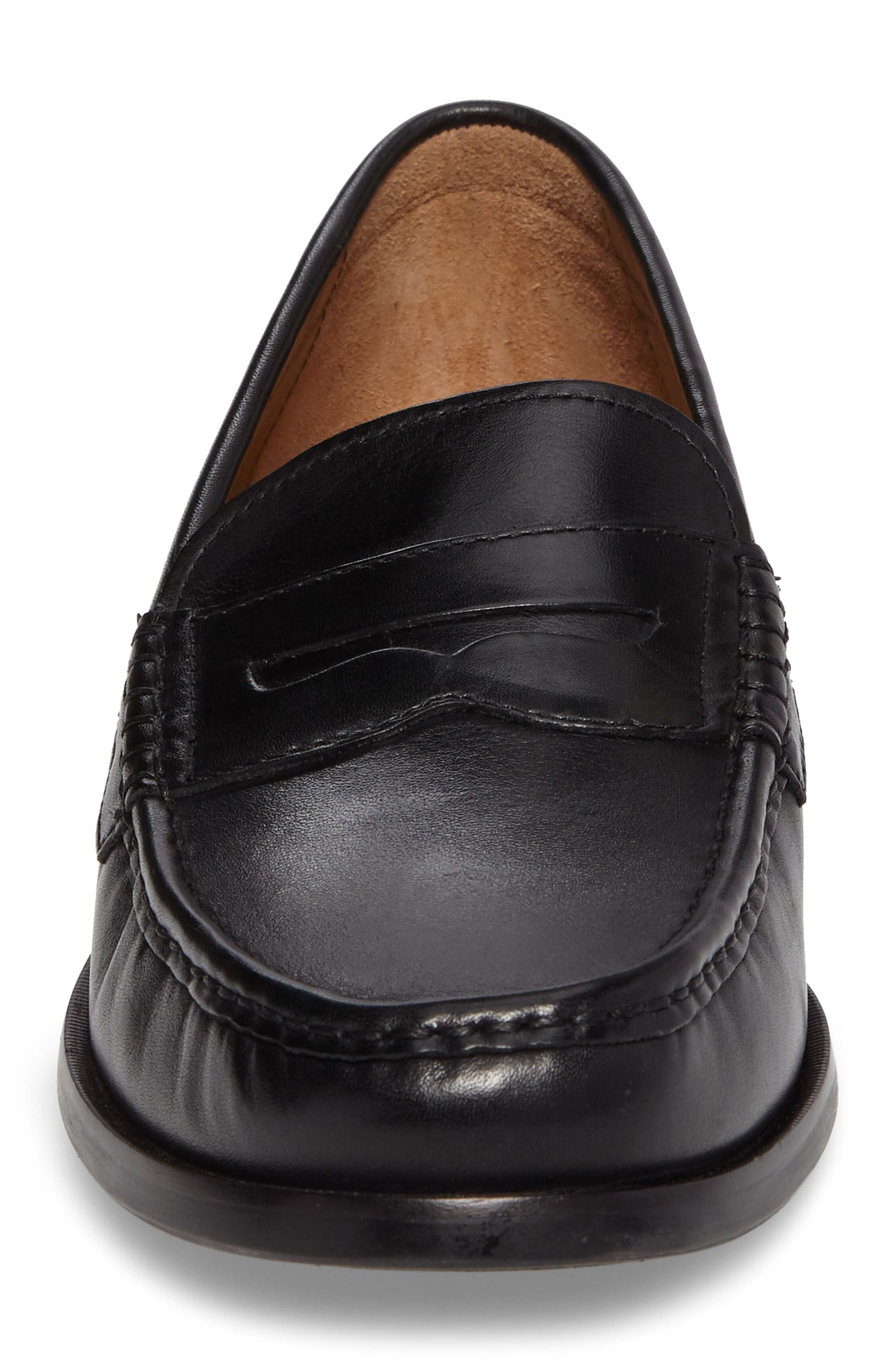Pinch Friday Penny Loafer,                             Alternate thumbnail 4, color,                             Black Leather