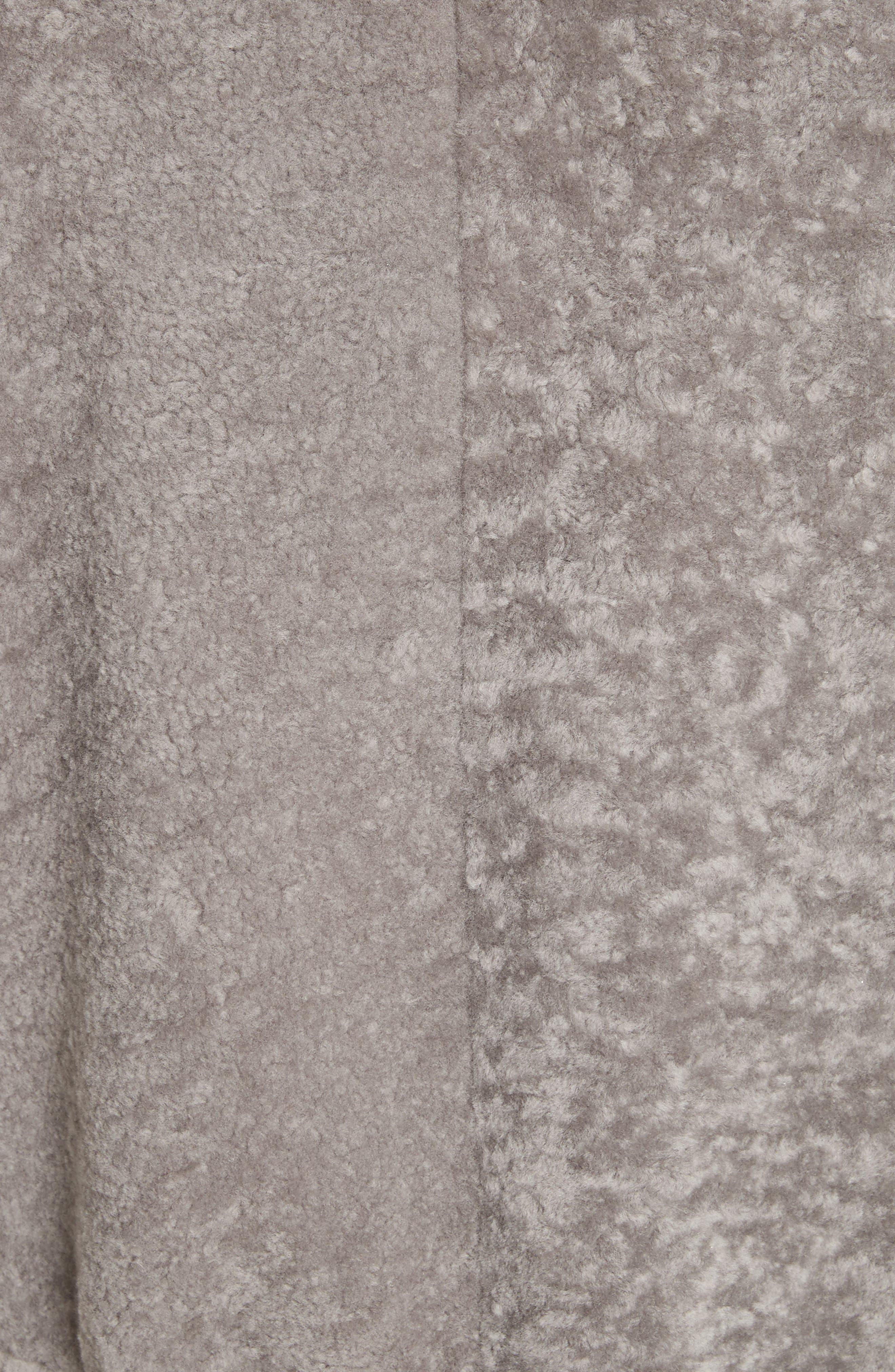 Genuine Shearling Vest,                             Alternate thumbnail 5, color,                             Travertine