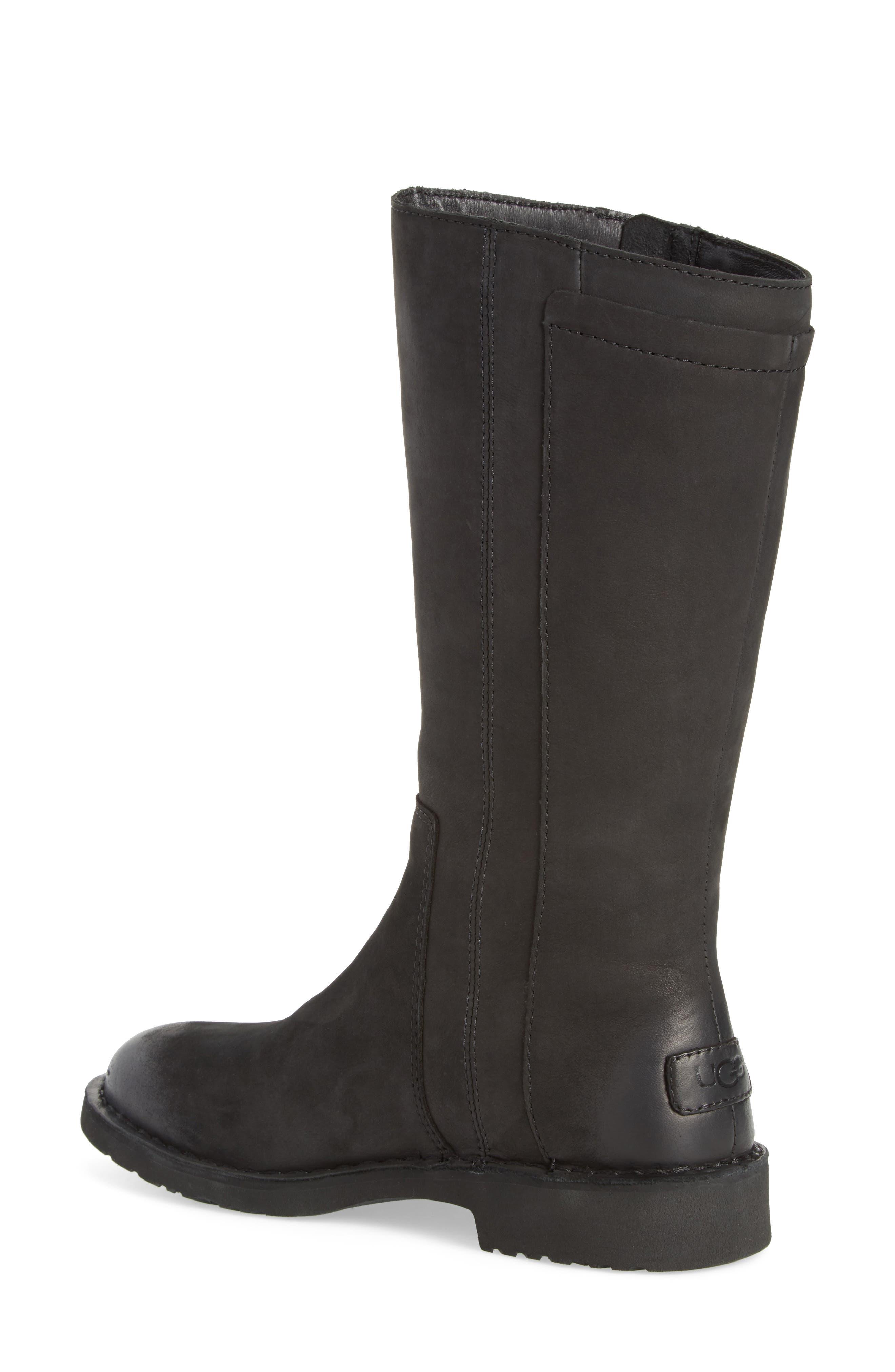 Elly Boot,                             Alternate thumbnail 2, color,                             Black Nubuck Leather