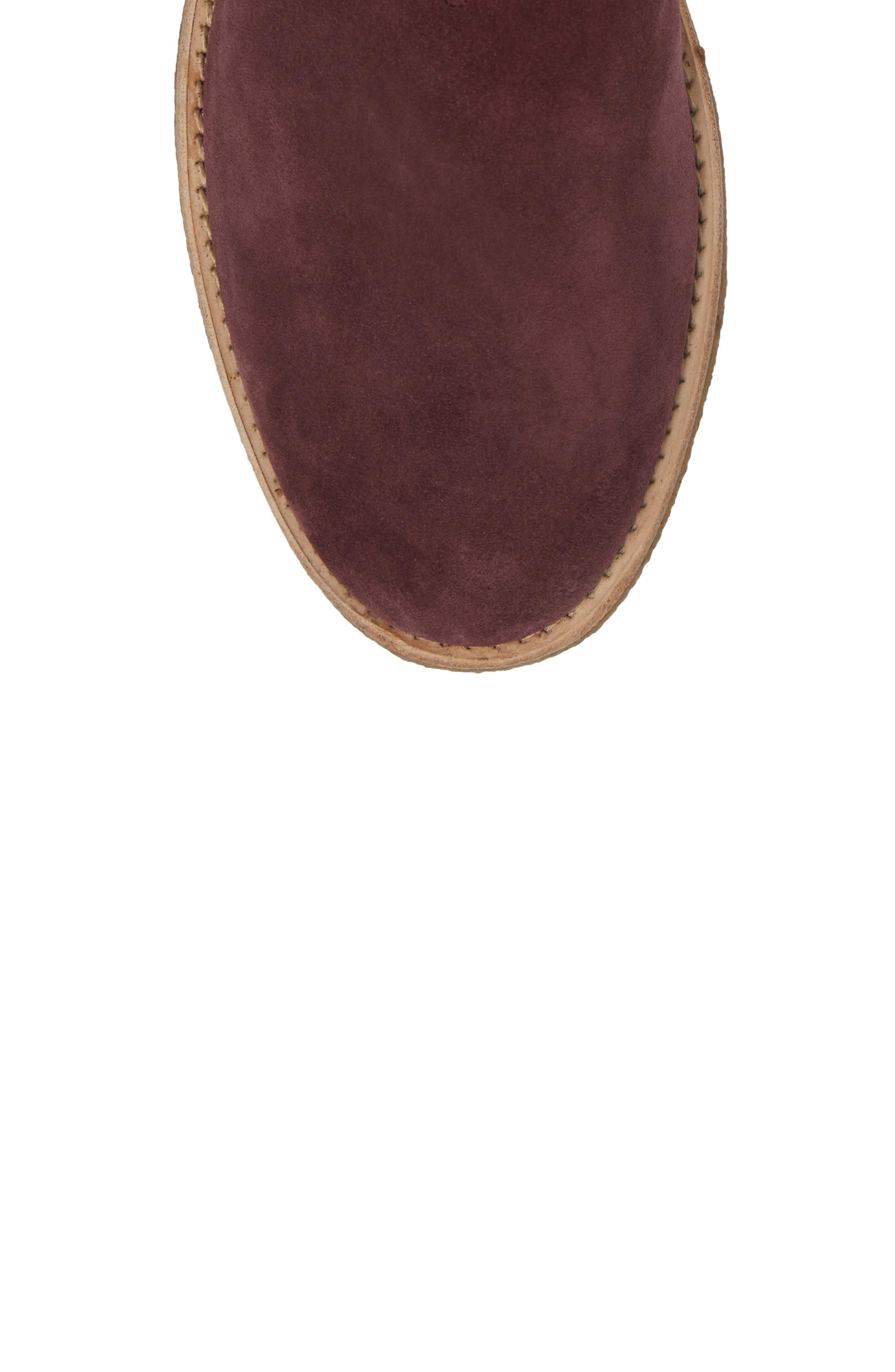 Chelsea Boot,                             Alternate thumbnail 6, color,                             Prunga Burgundy