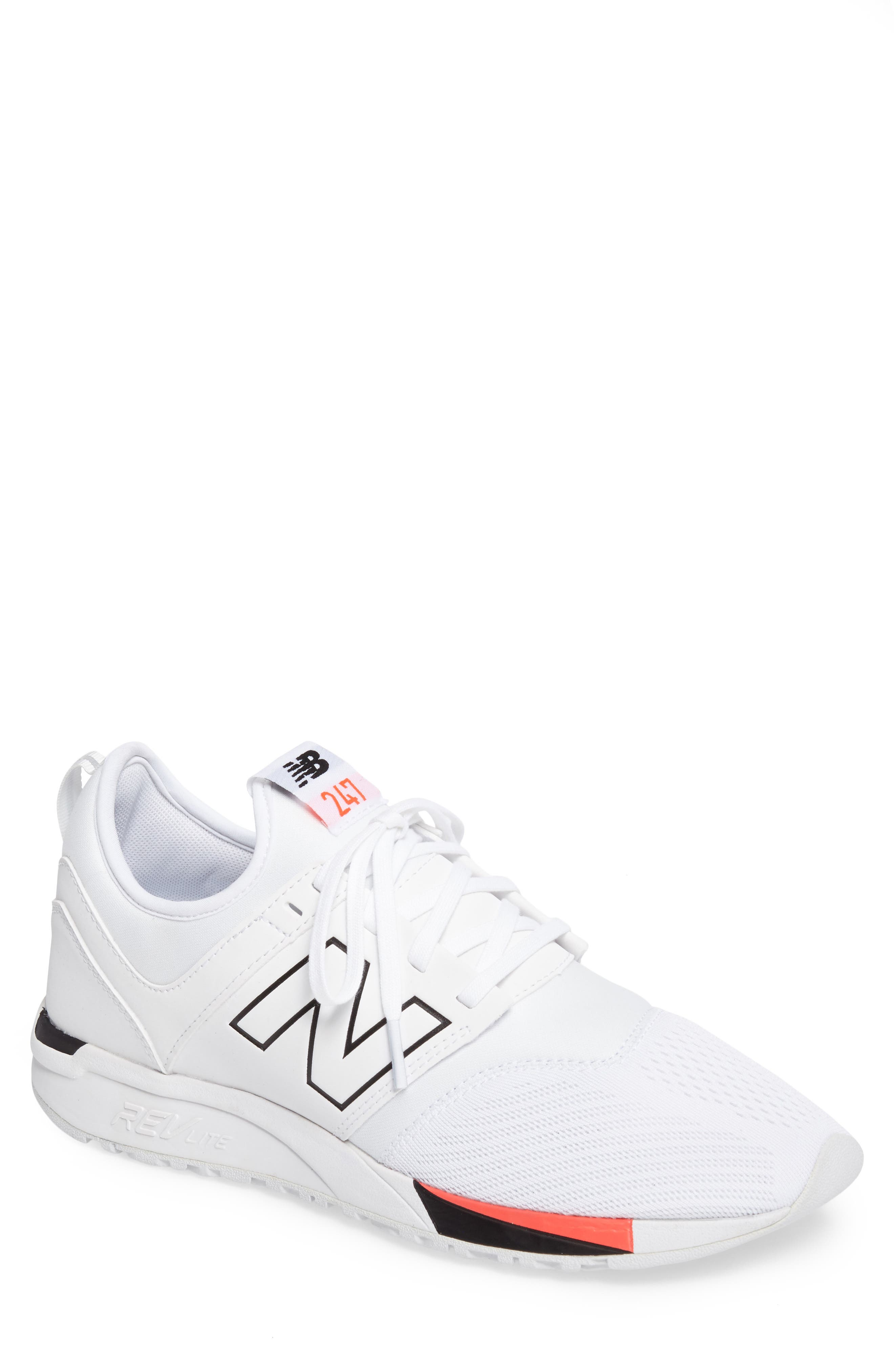 247 Classic Plus Sneaker,                             Main thumbnail 1, color,                             White