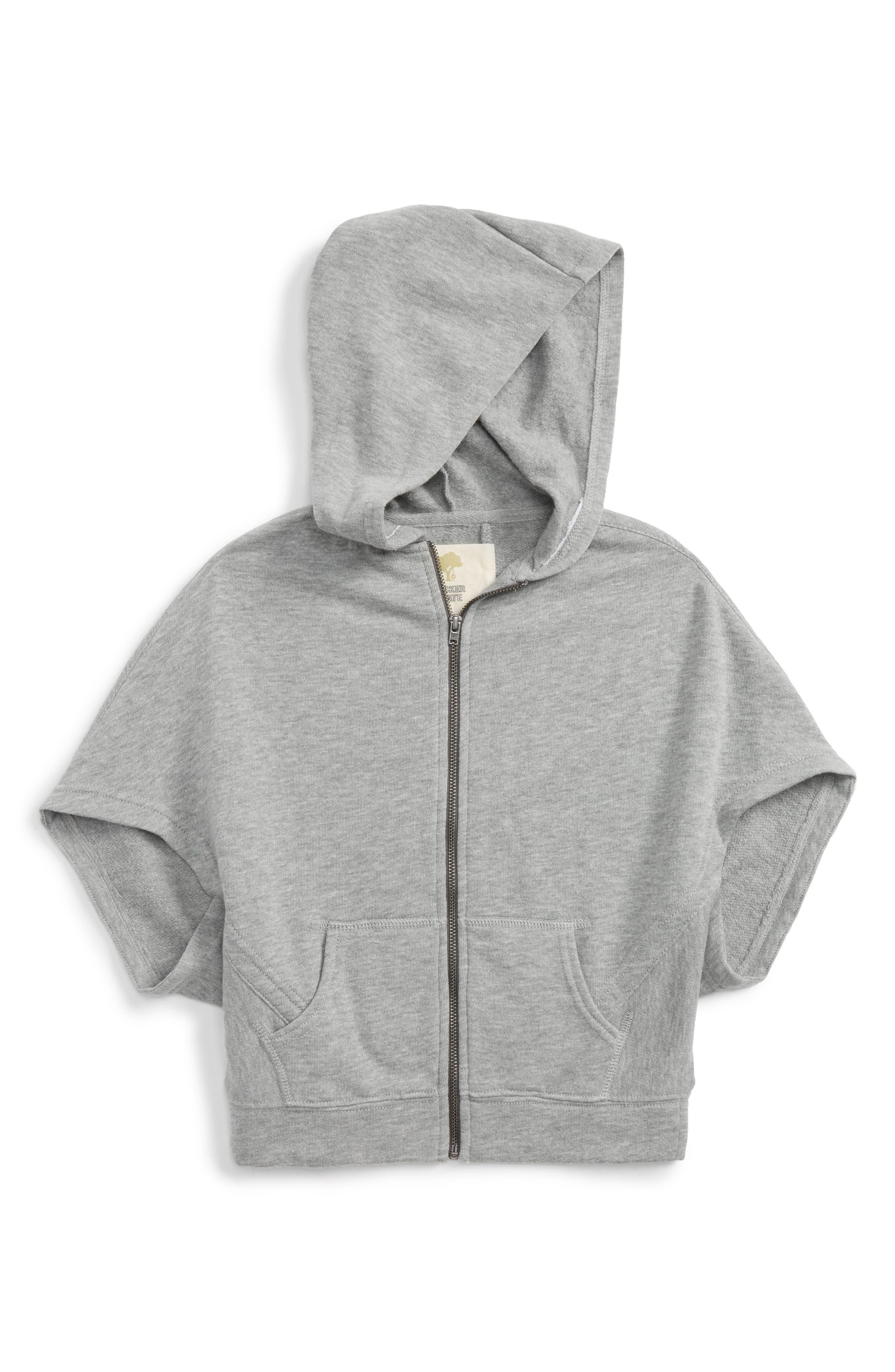 Hooded Cape,                             Main thumbnail 1, color,                             Grey Medium Heather