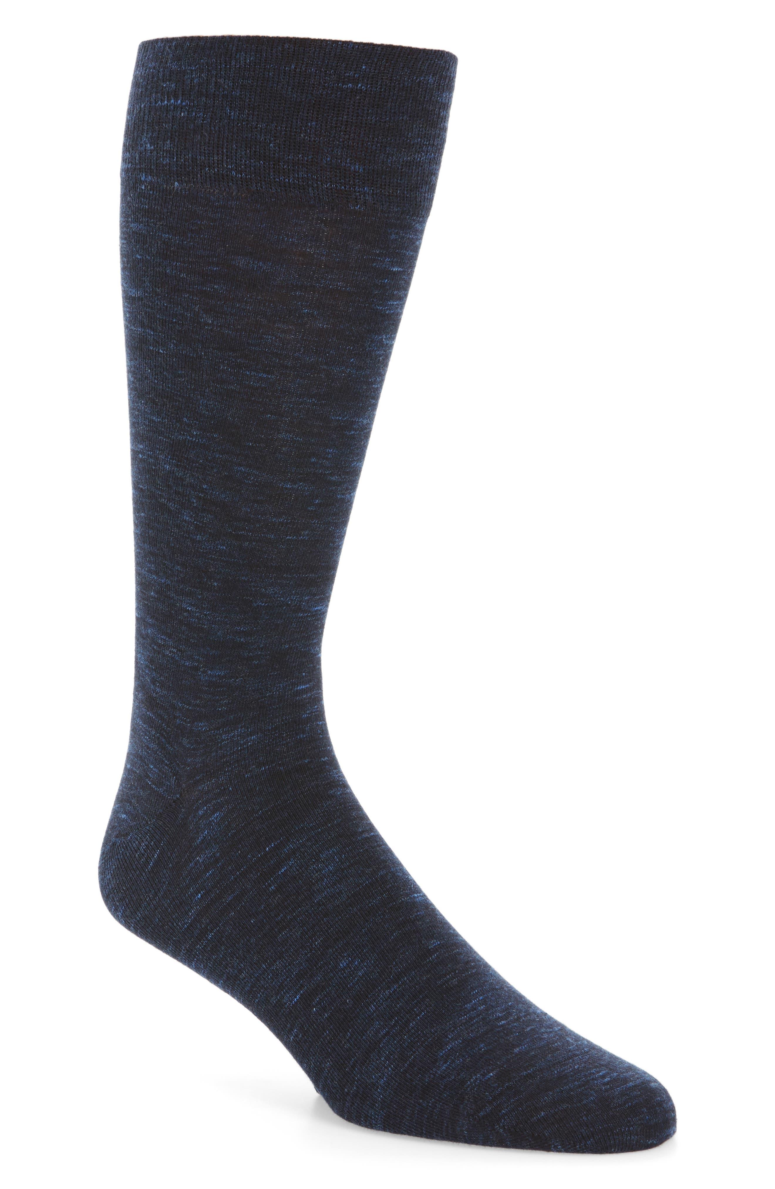 Twist Socks,                         Main,                         color, Navy