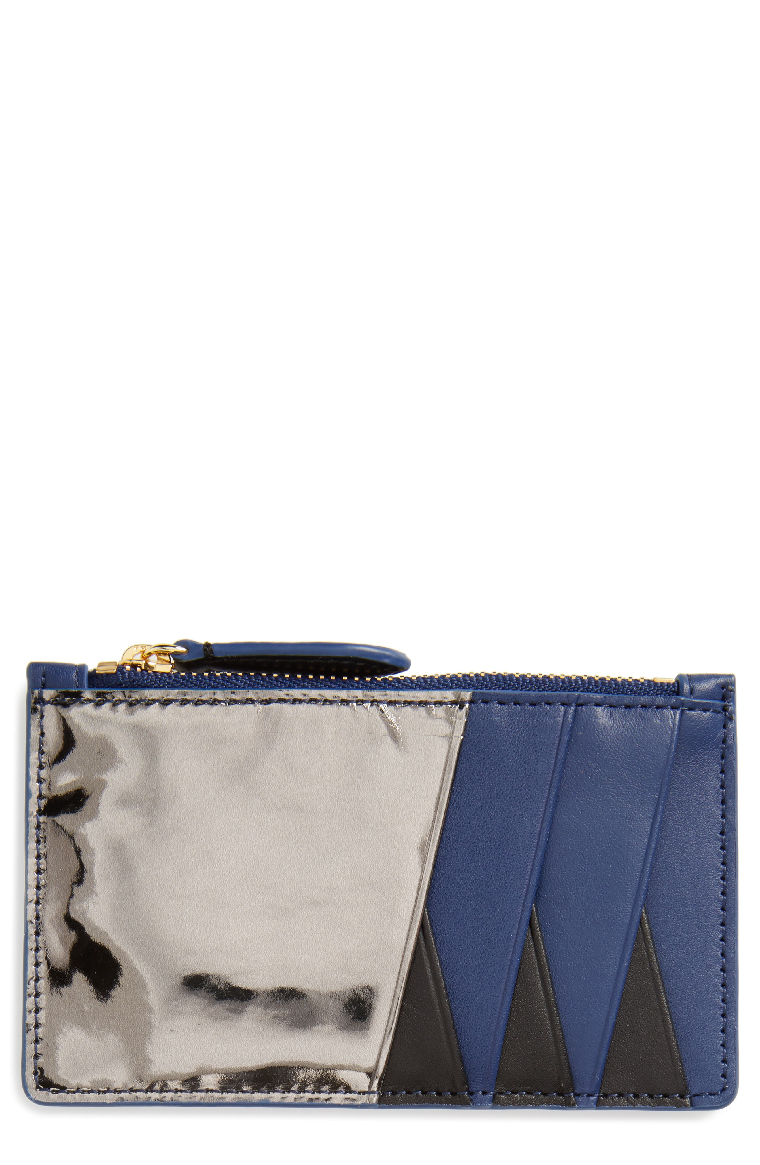 Alternate Image 1 Selected - Diane von Furstenberg Leather Card Case