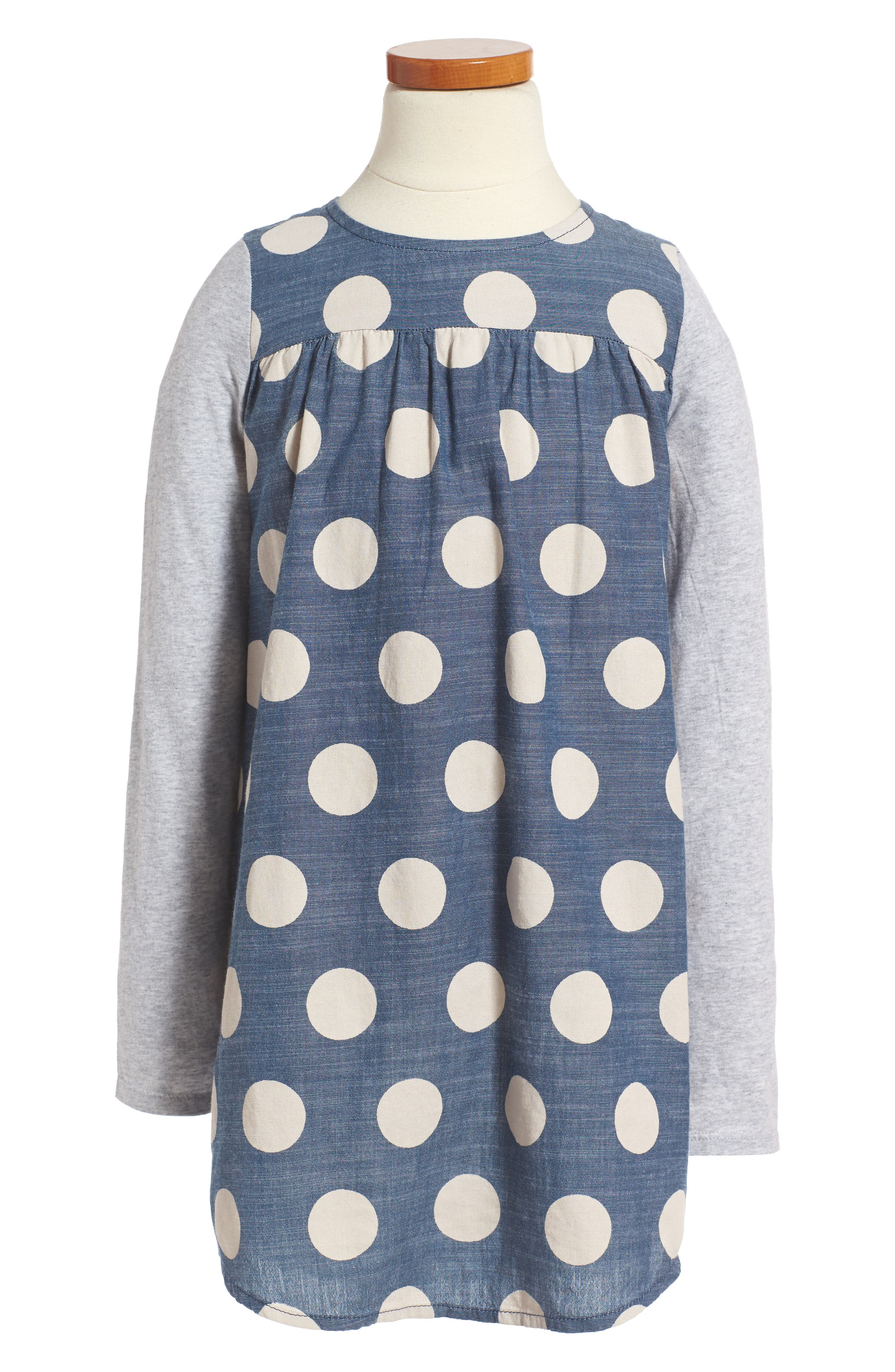 Main Image - Tucker + Tate Big Dot Woven Dress (Toddler Girls, Little Girls & Big Girls)