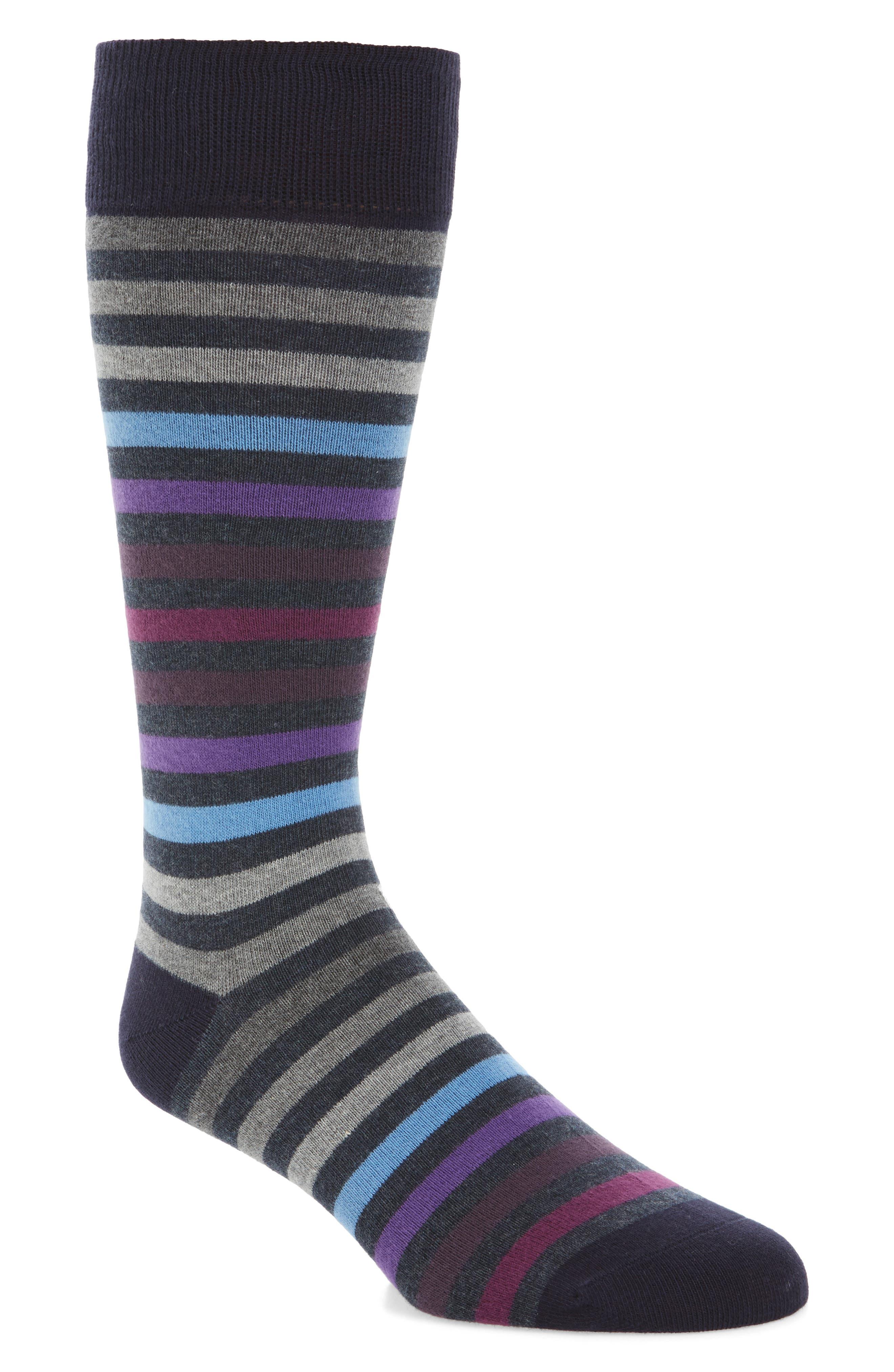Calibrate Heather Stripe Socks (3 for $30)