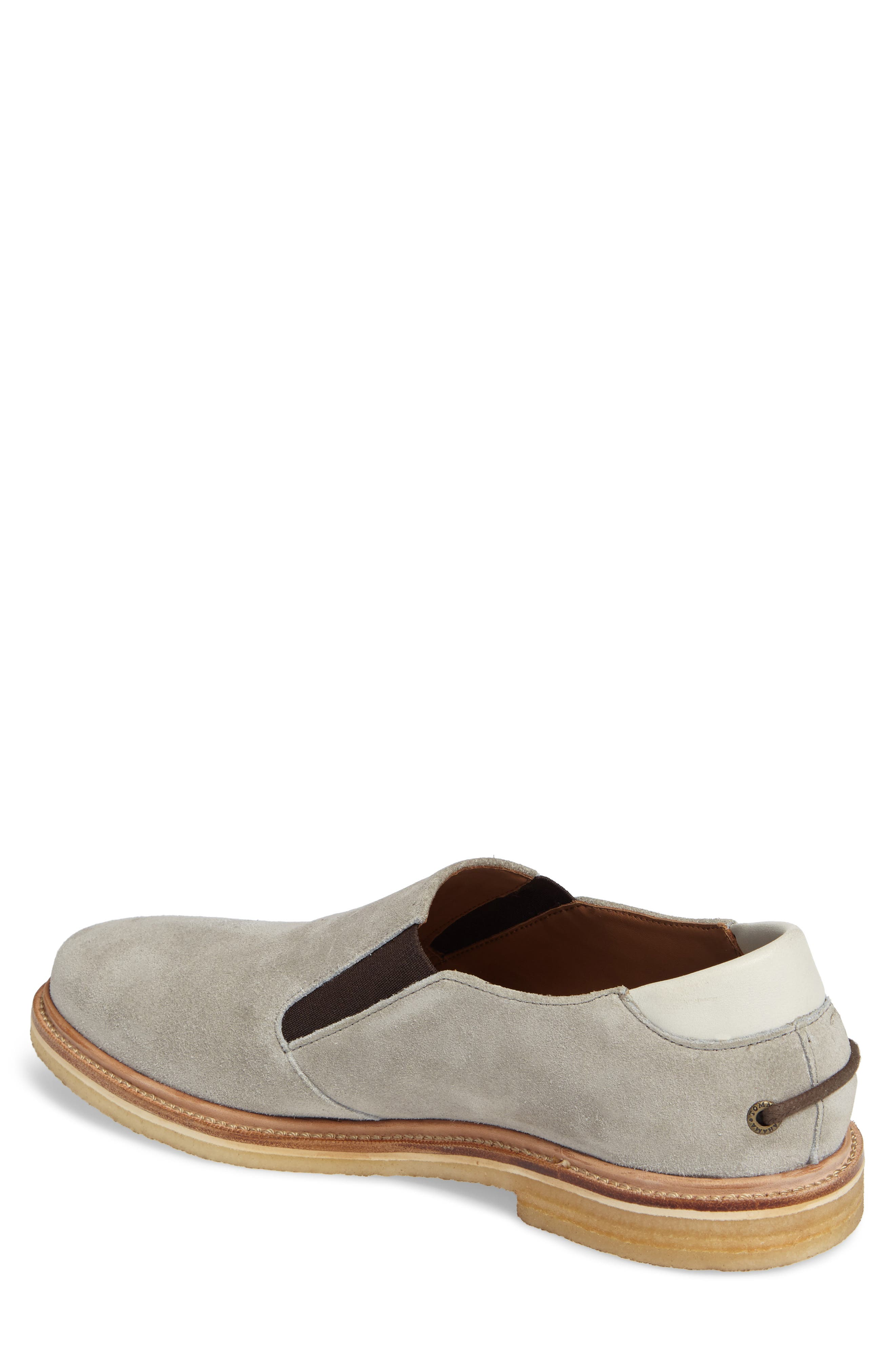 Linen Slip-On,                             Alternate thumbnail 2, color,                             Grey Suede