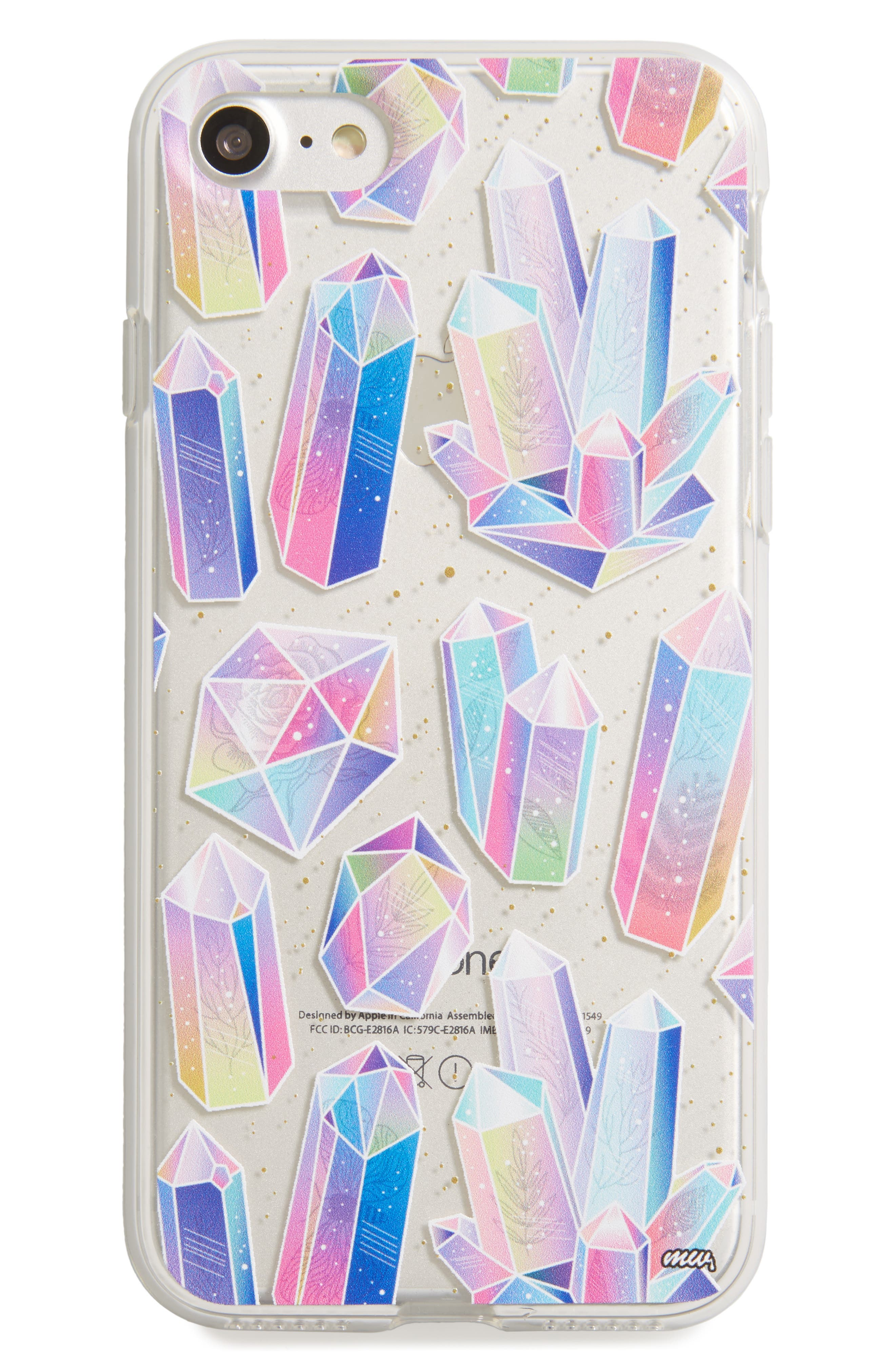 Geometric Crystals iPhone 7 Case,                             Main thumbnail 1, color,                             Multi