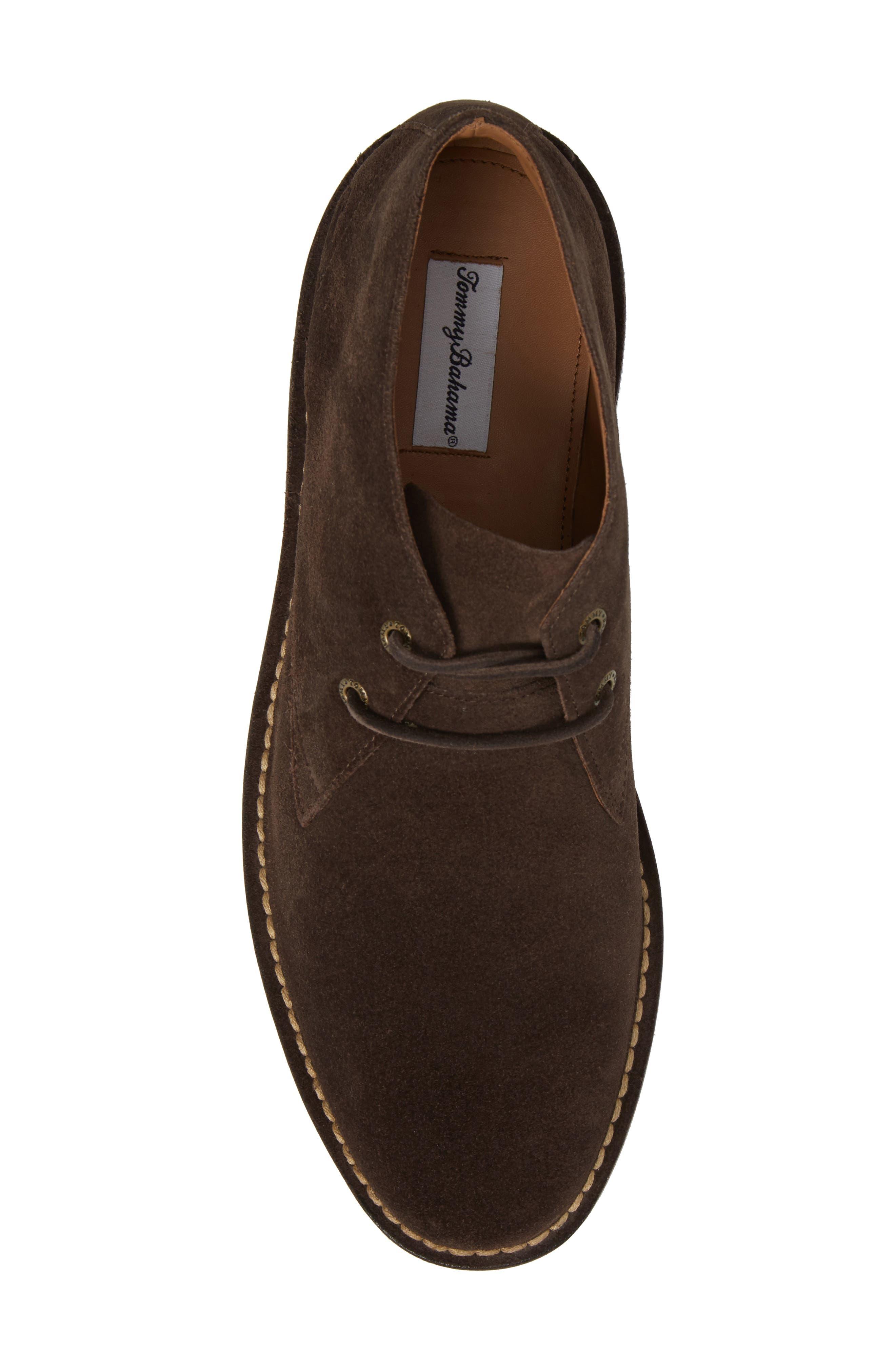 Nassau Chukka Boot,                             Alternate thumbnail 5, color,                             Dark Brown Suede