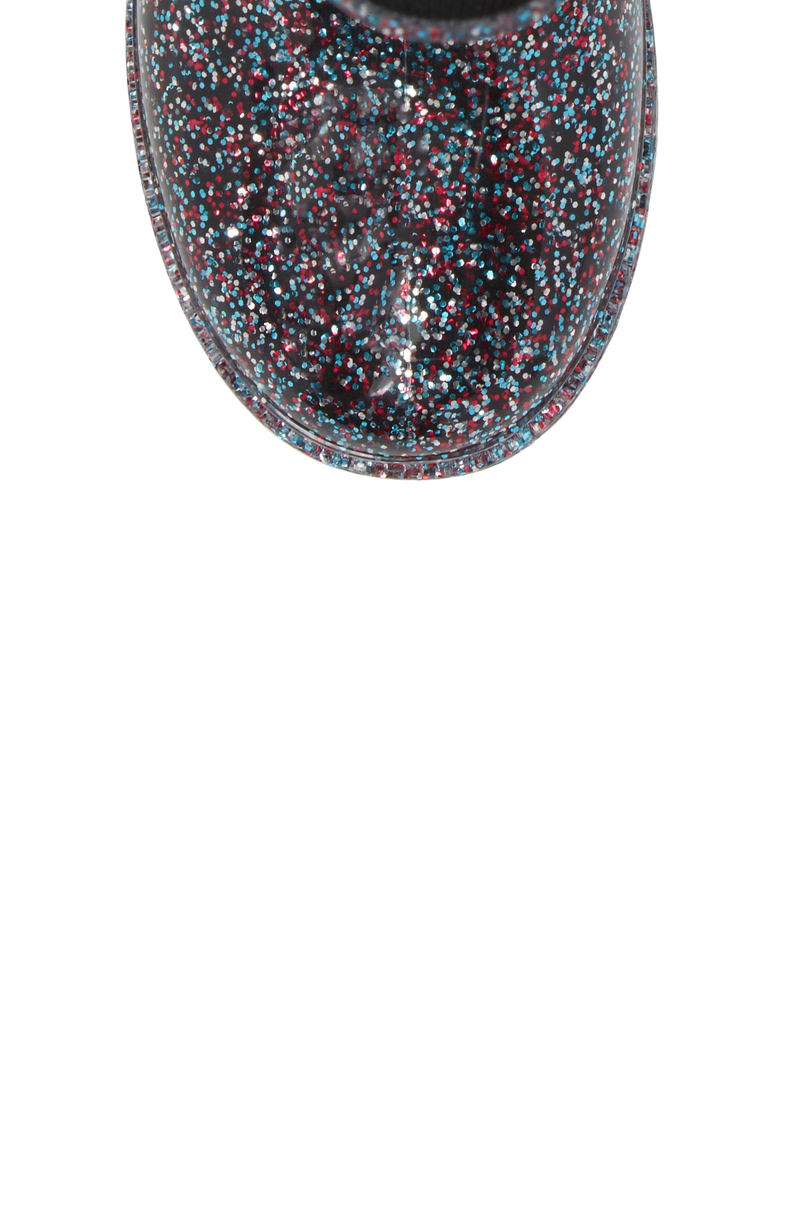 Glitter Rain Boot,                             Alternate thumbnail 5, color,                             Multi