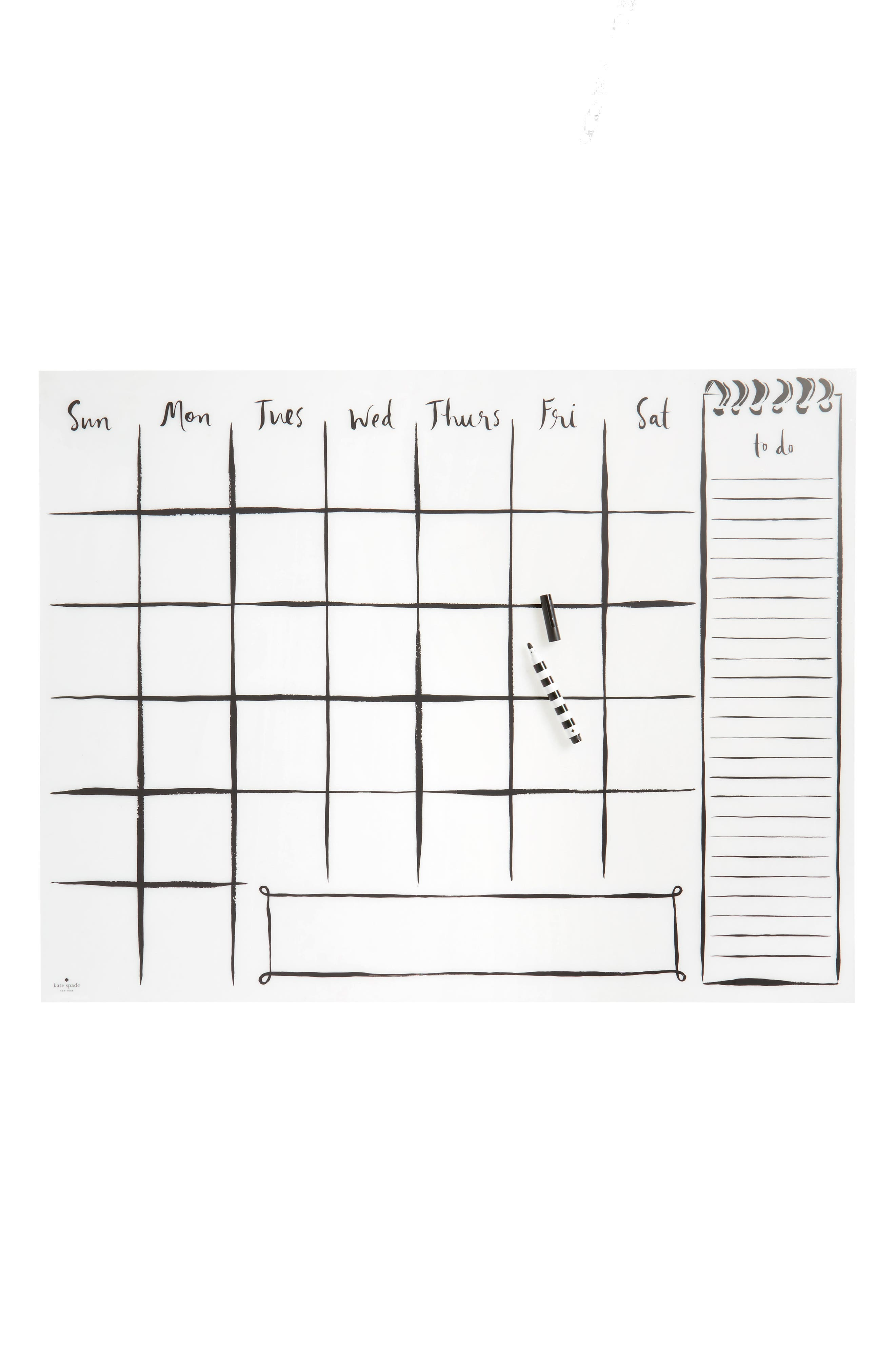 wall decal calendar,                             Main thumbnail 1, color,                             Clear