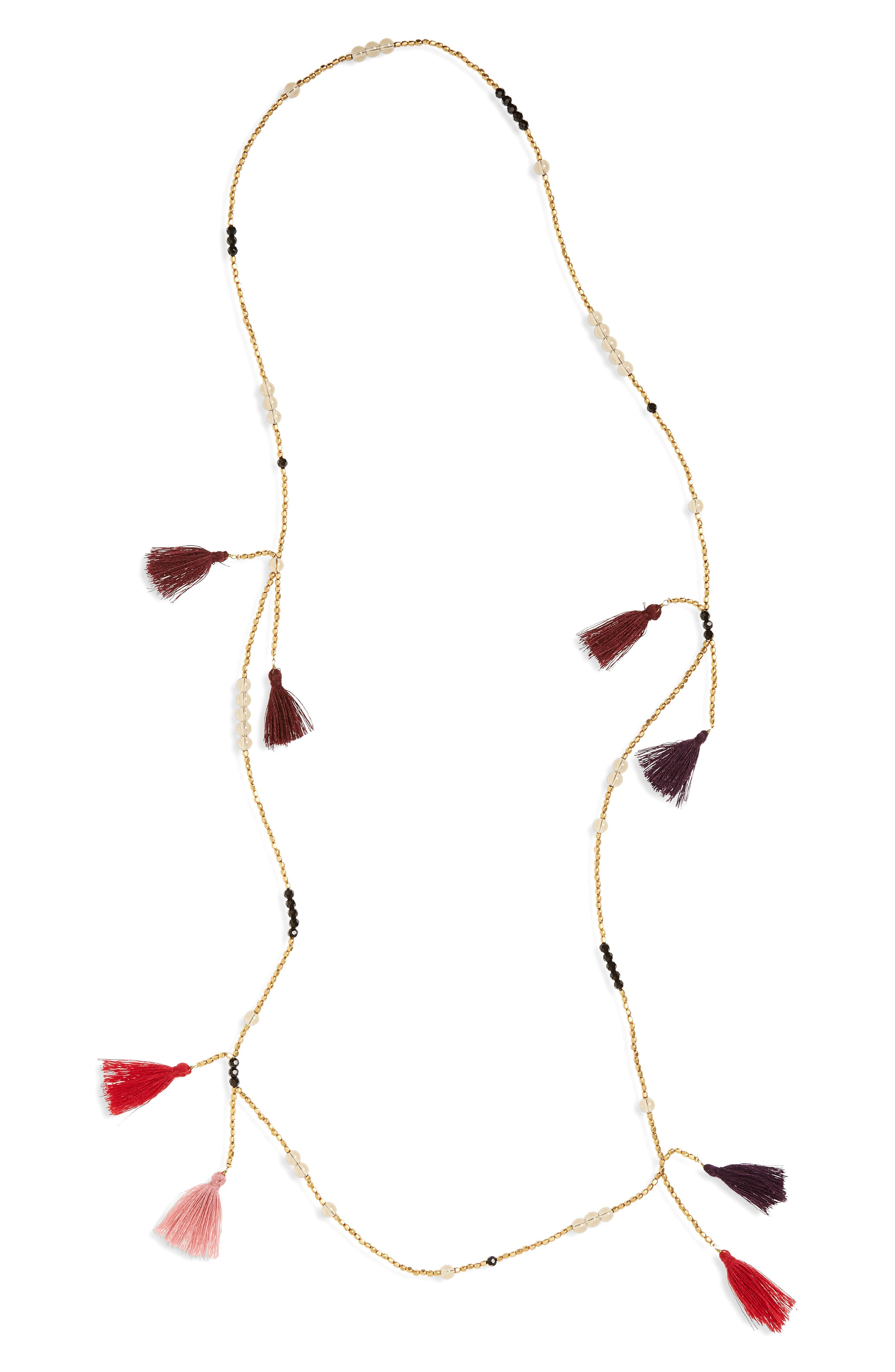 Main Image - Panacea Tassel Bead Necklace