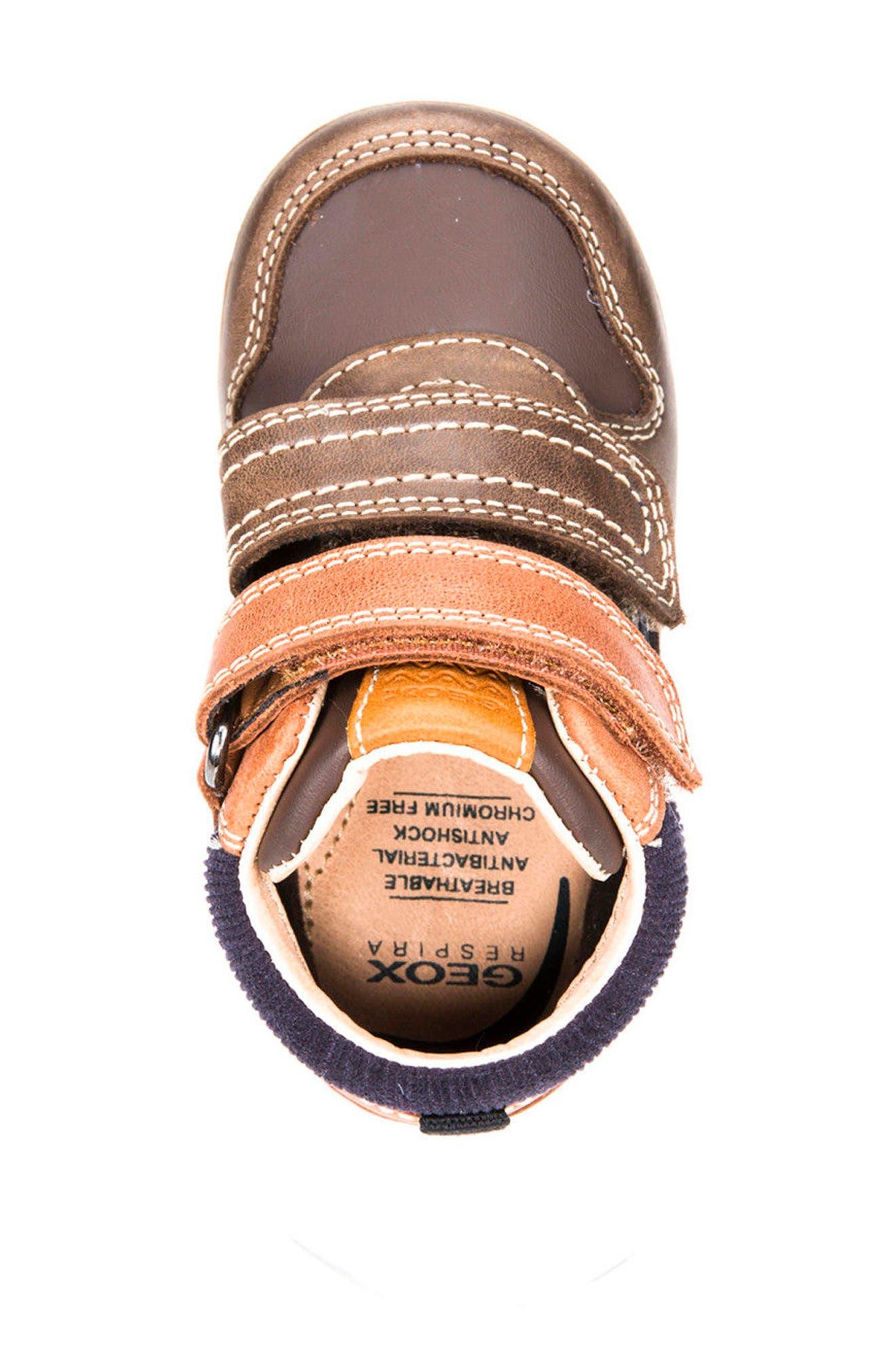 Alternate Image 5  - Geox New Flick Mid Top Sneaker (Walker & Toddler)