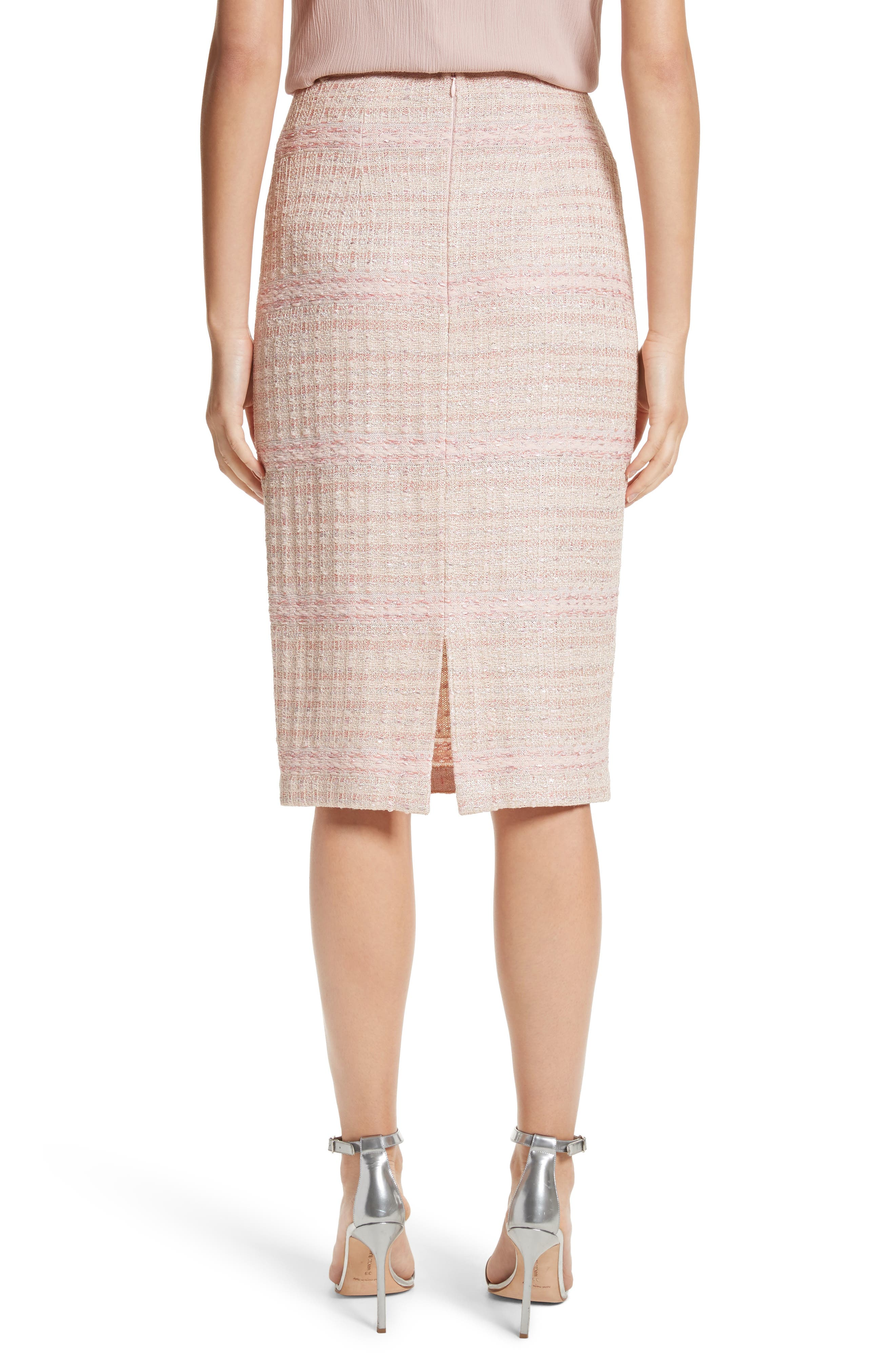 Alternate Image 2  - St. John Collection Guilded Pastel Knit Skirt