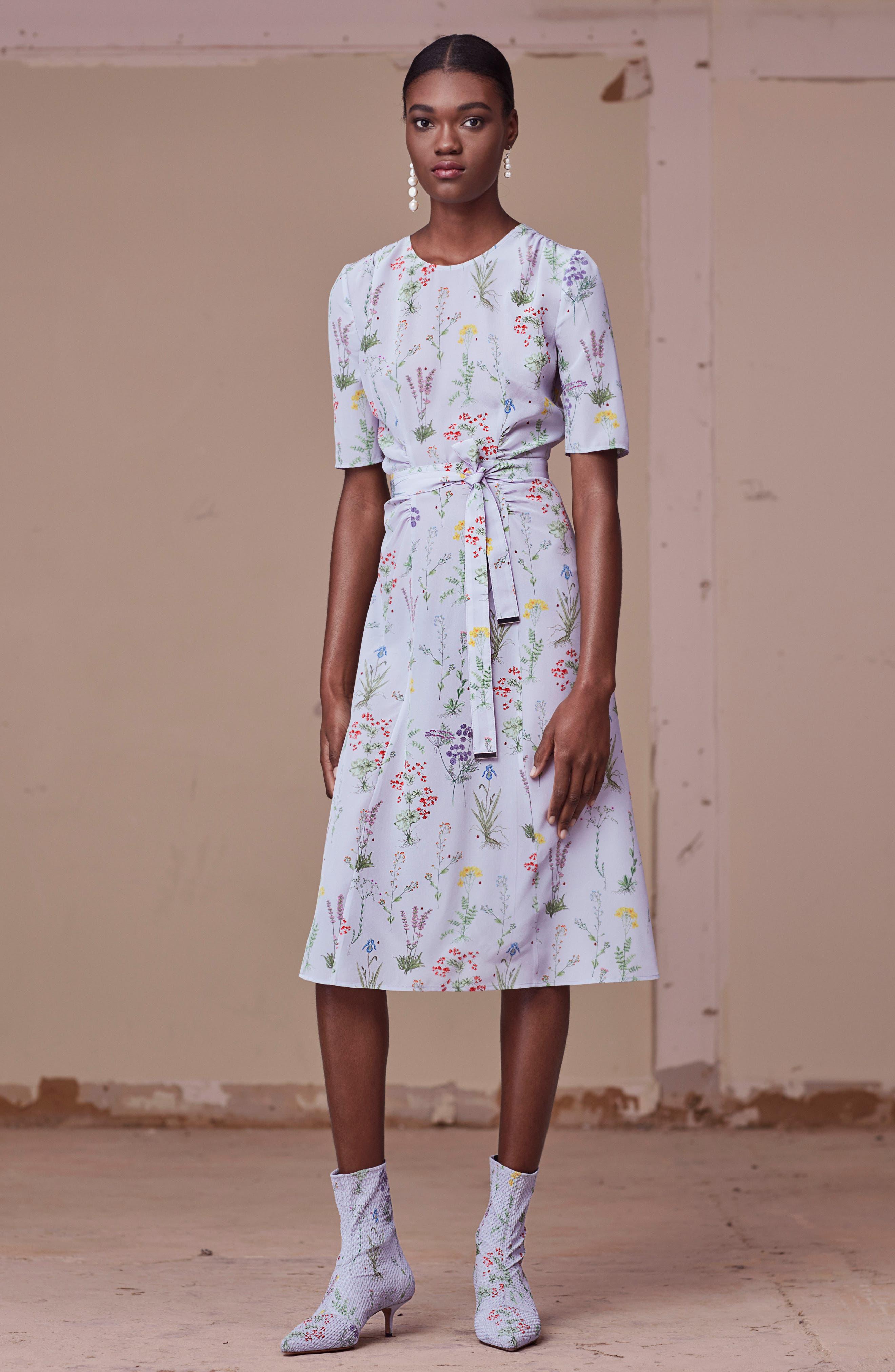 Alternate Image 2  - Altuzarra Sylvia Floral Silk A-Line Dress