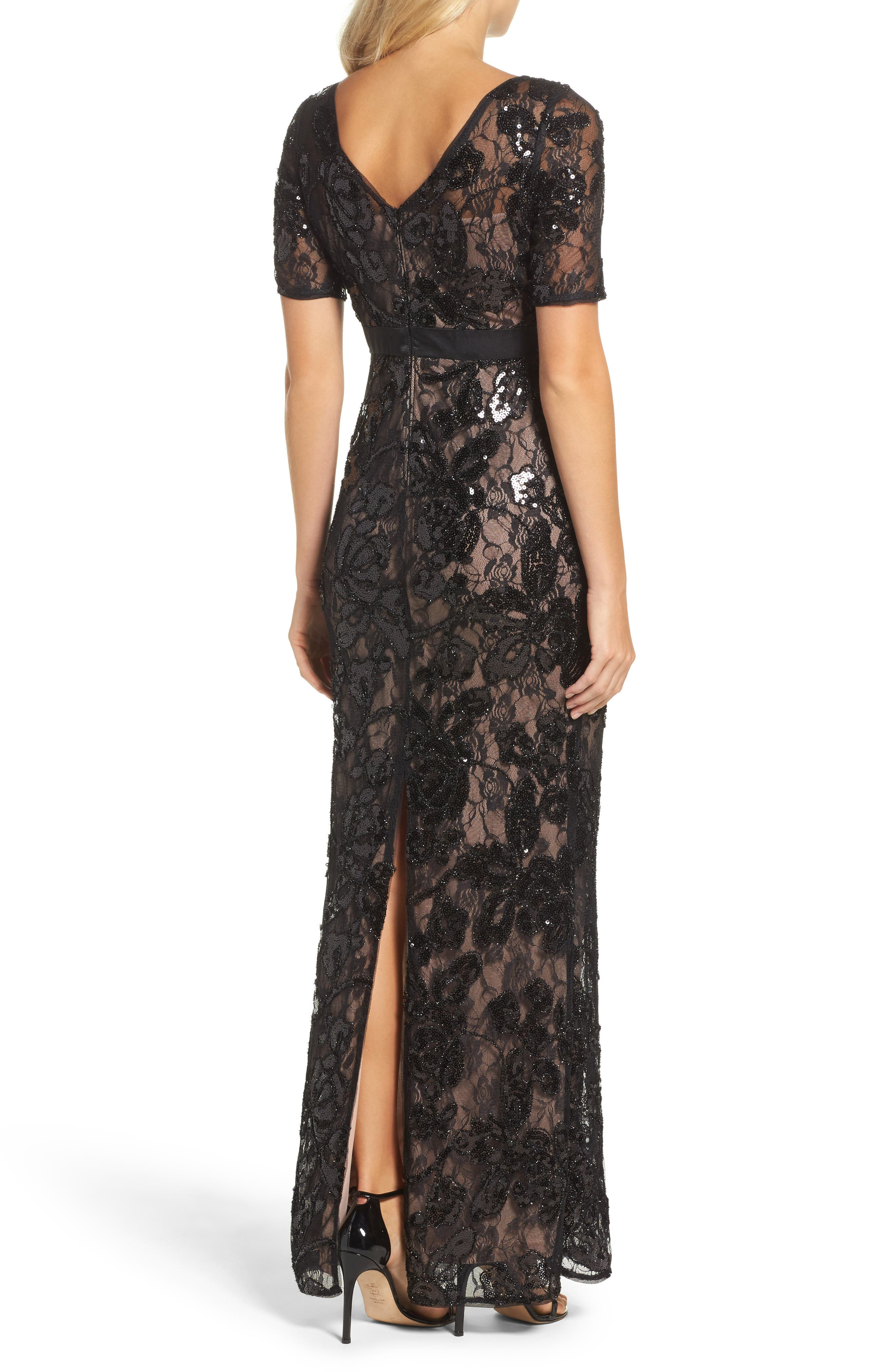Alternate Image 2  - Adrianna Papell Sequin Lace Gown