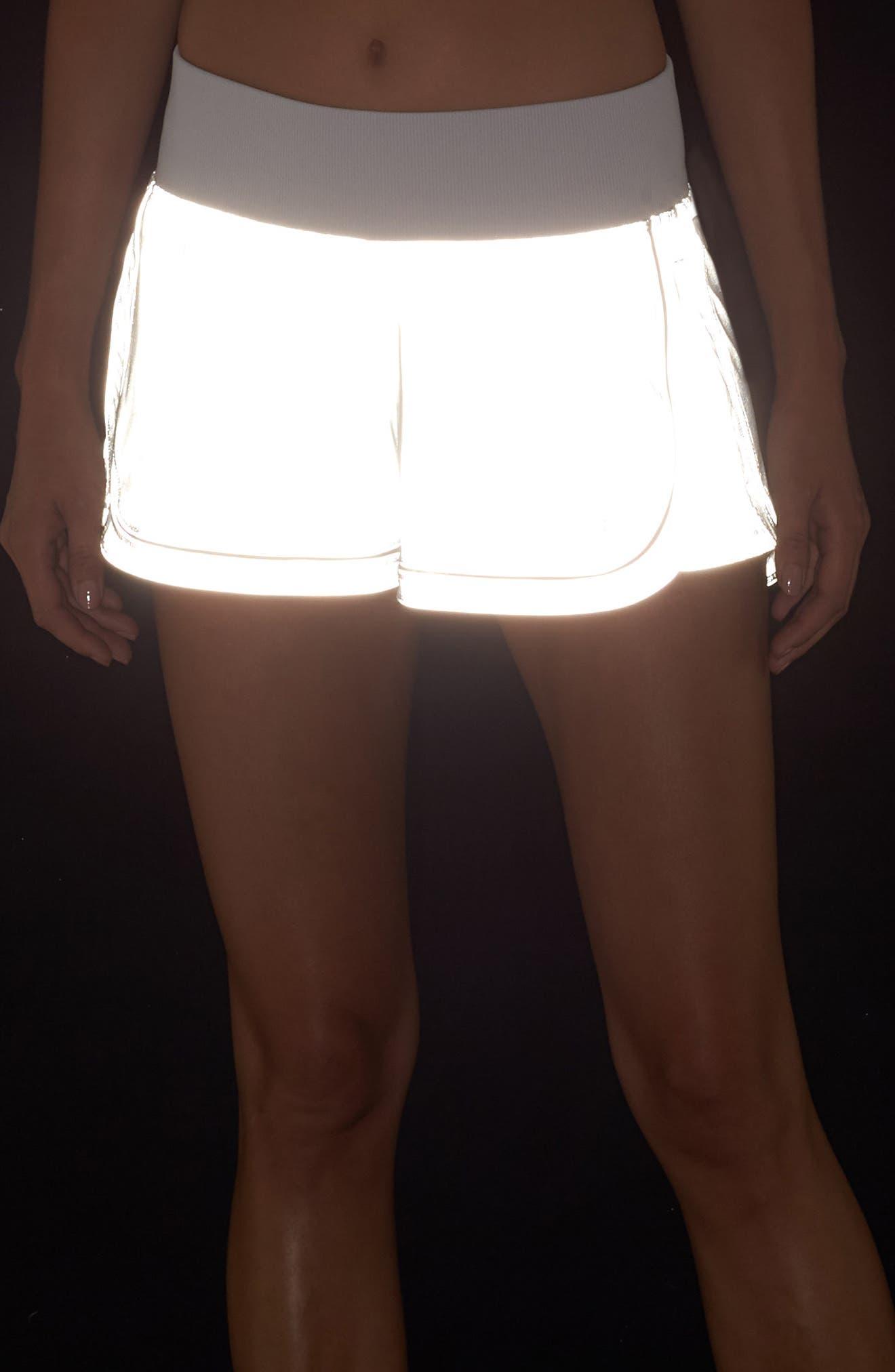 Reflective Meditate Shorts,                             Alternate thumbnail 6, color,                             Silver Reflective
