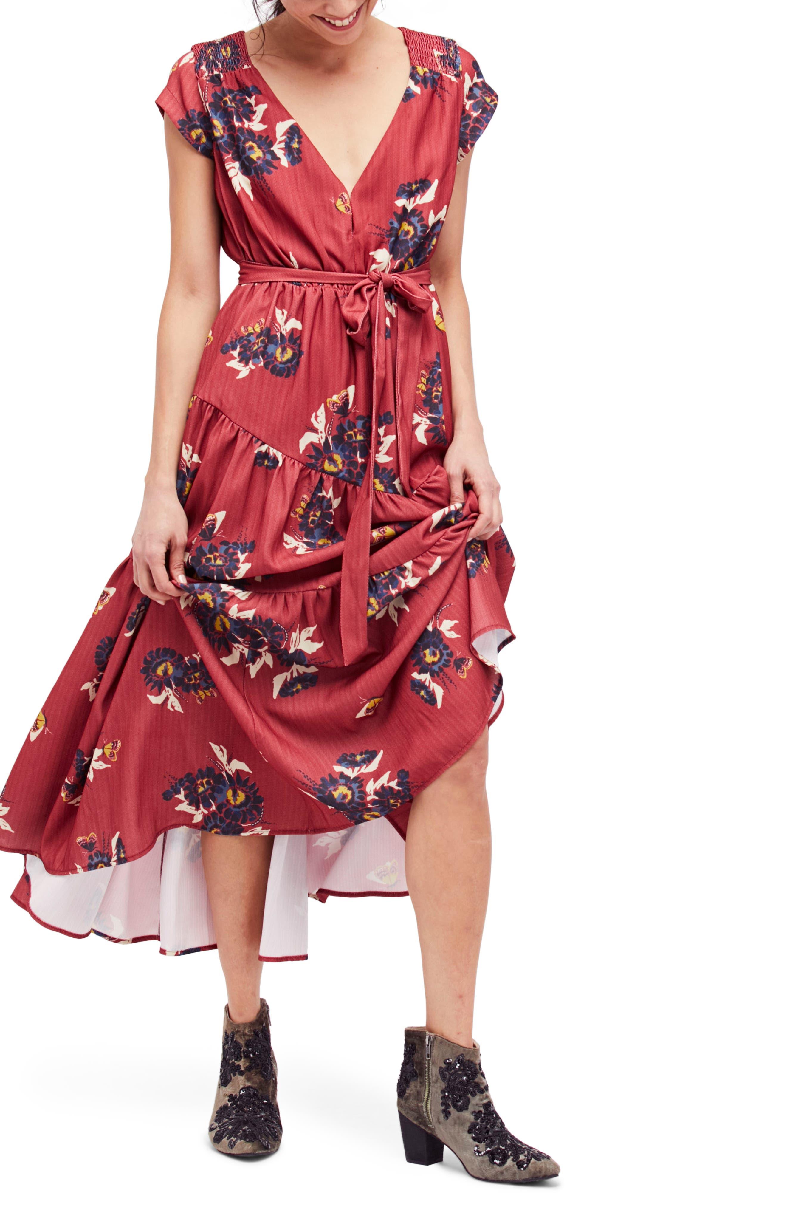 All I Got Maxi Dress,                         Main,                         color, Red Combo