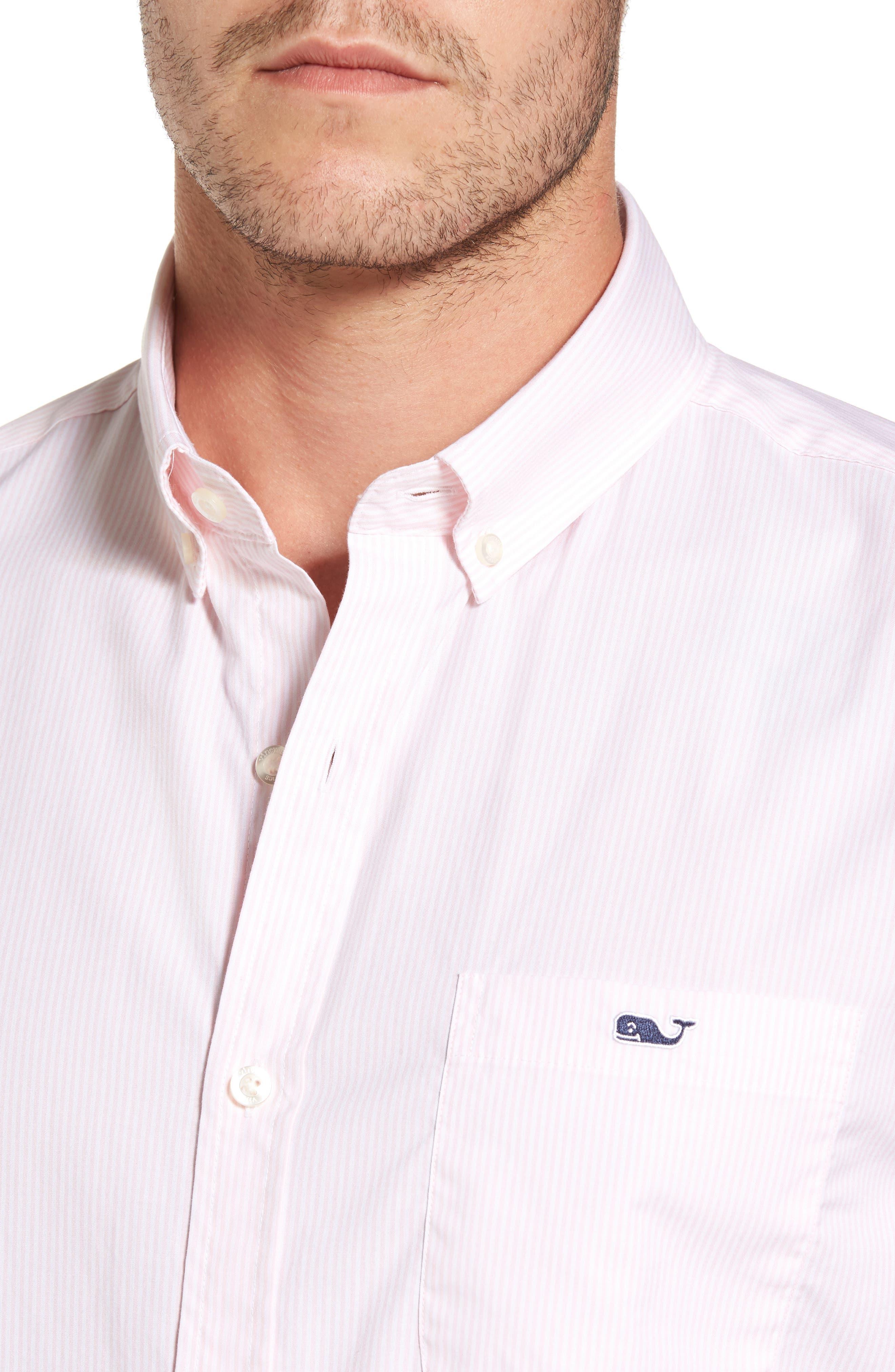 Alternate Image 4  - vineyard vines Seabird Stripe Tucker Slim Fit Sport Shirt