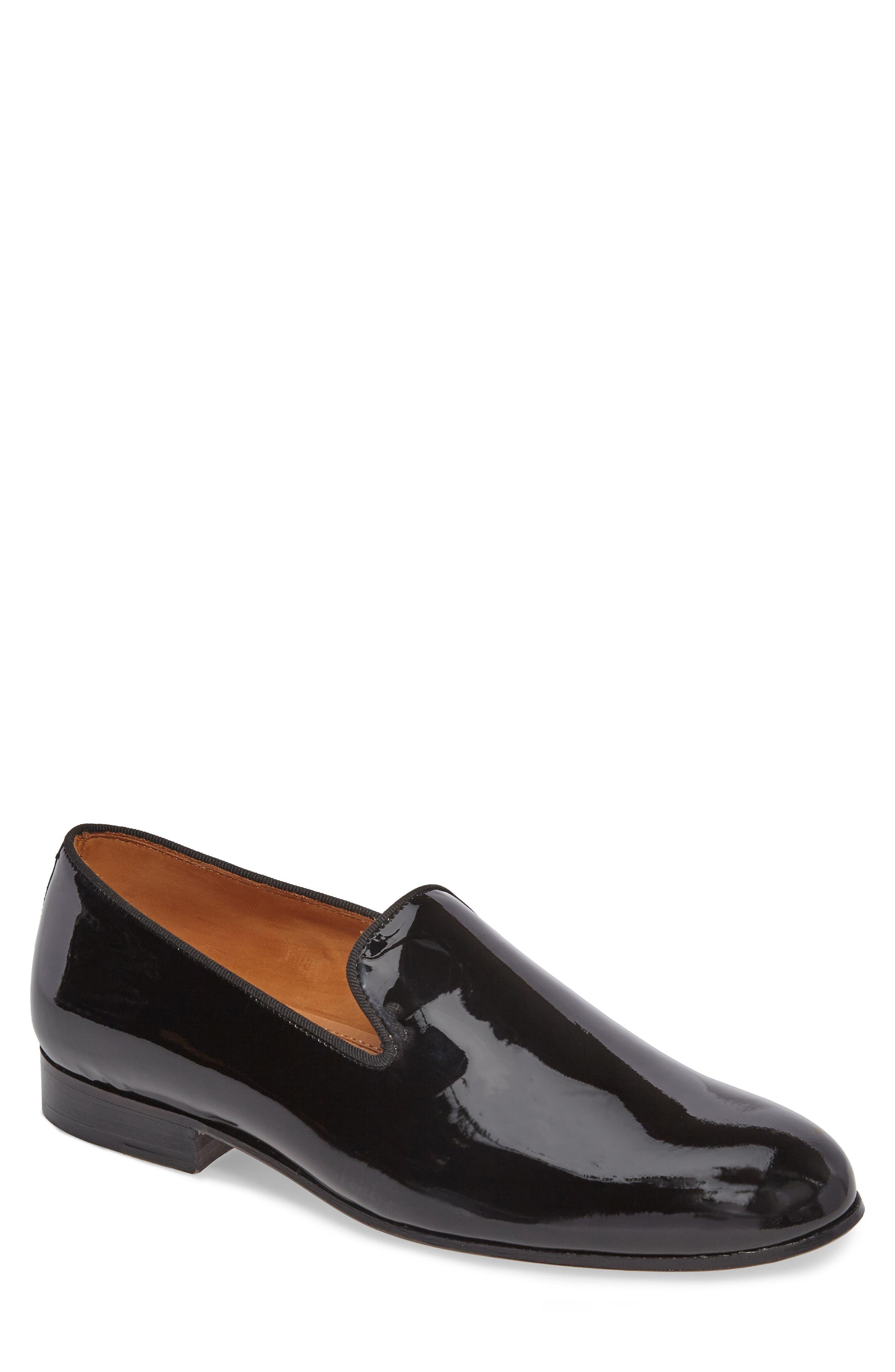 Bravi Loafer,                             Main thumbnail 1, color,                             Black Patent Leather
