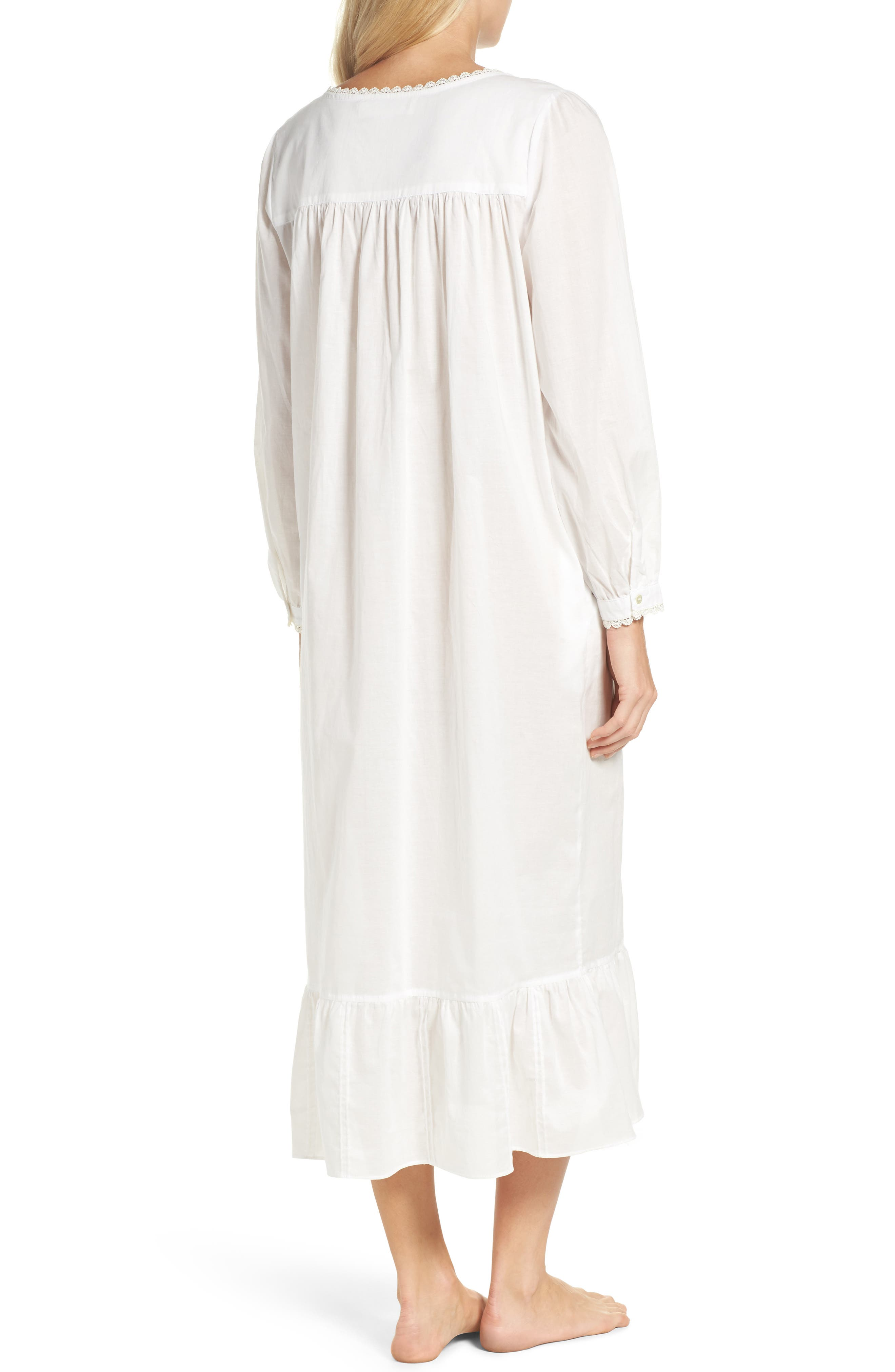 Alternate Image 2  - Eileen West Long Sleeve Lawn Nightgown