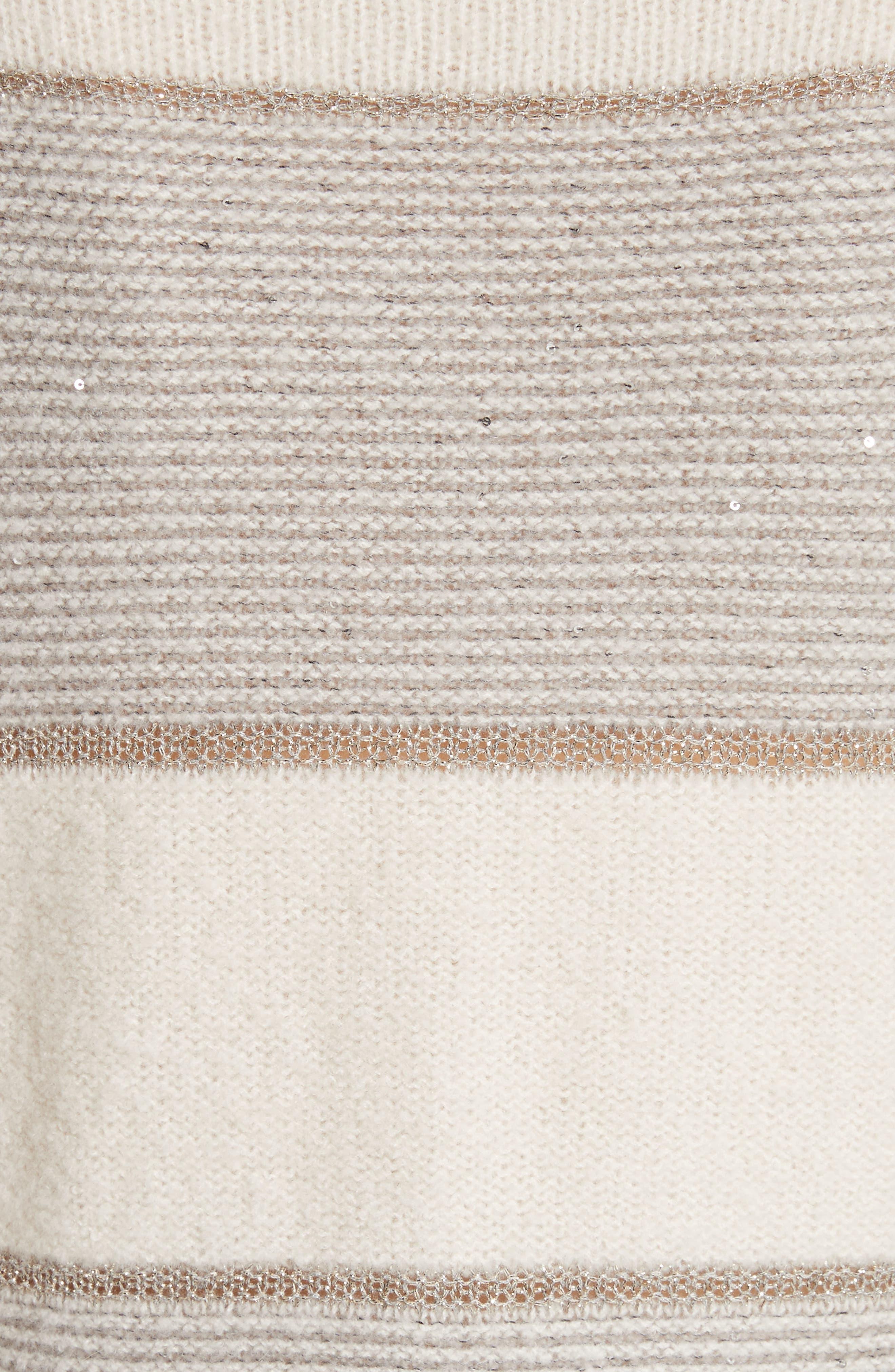 Alternate Image 6  - St. John Collection Links Knit Funnel Neck Sweater