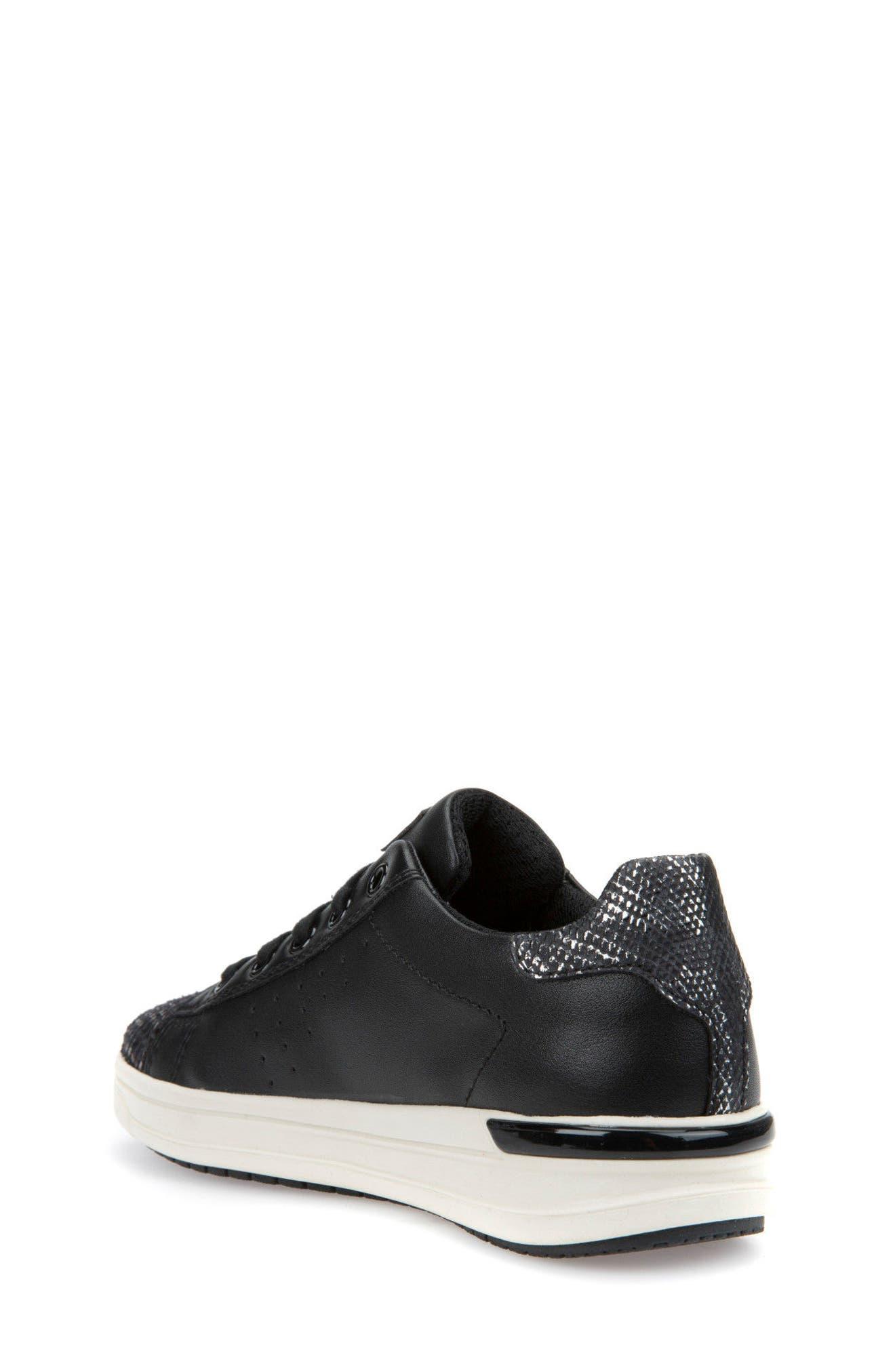 Cave Up Girl Low Top Sneaker,                             Alternate thumbnail 2, color,                             Black