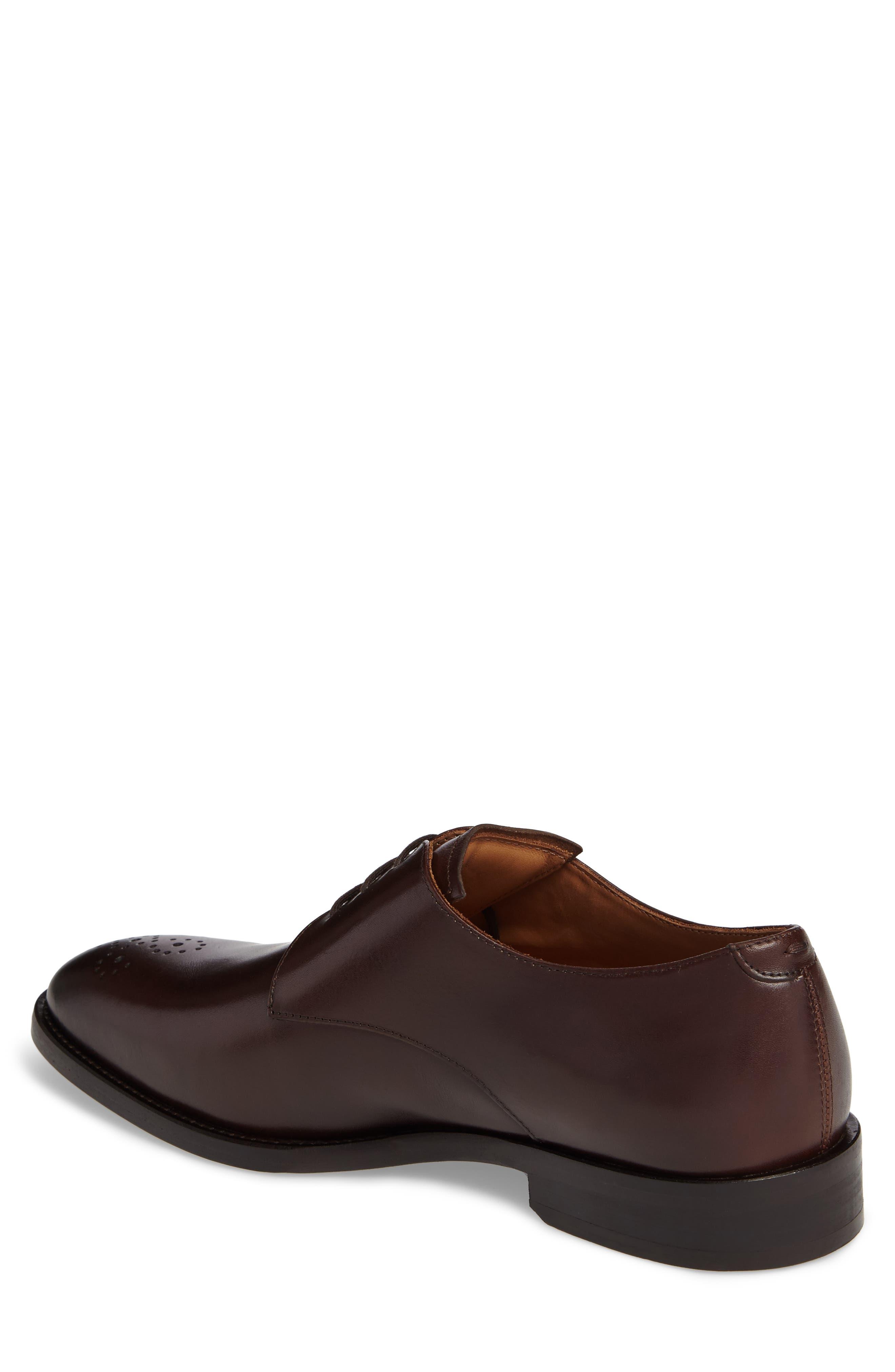Haltter Medallion Toe Derby,                             Alternate thumbnail 2, color,                             Dark Brown Leather