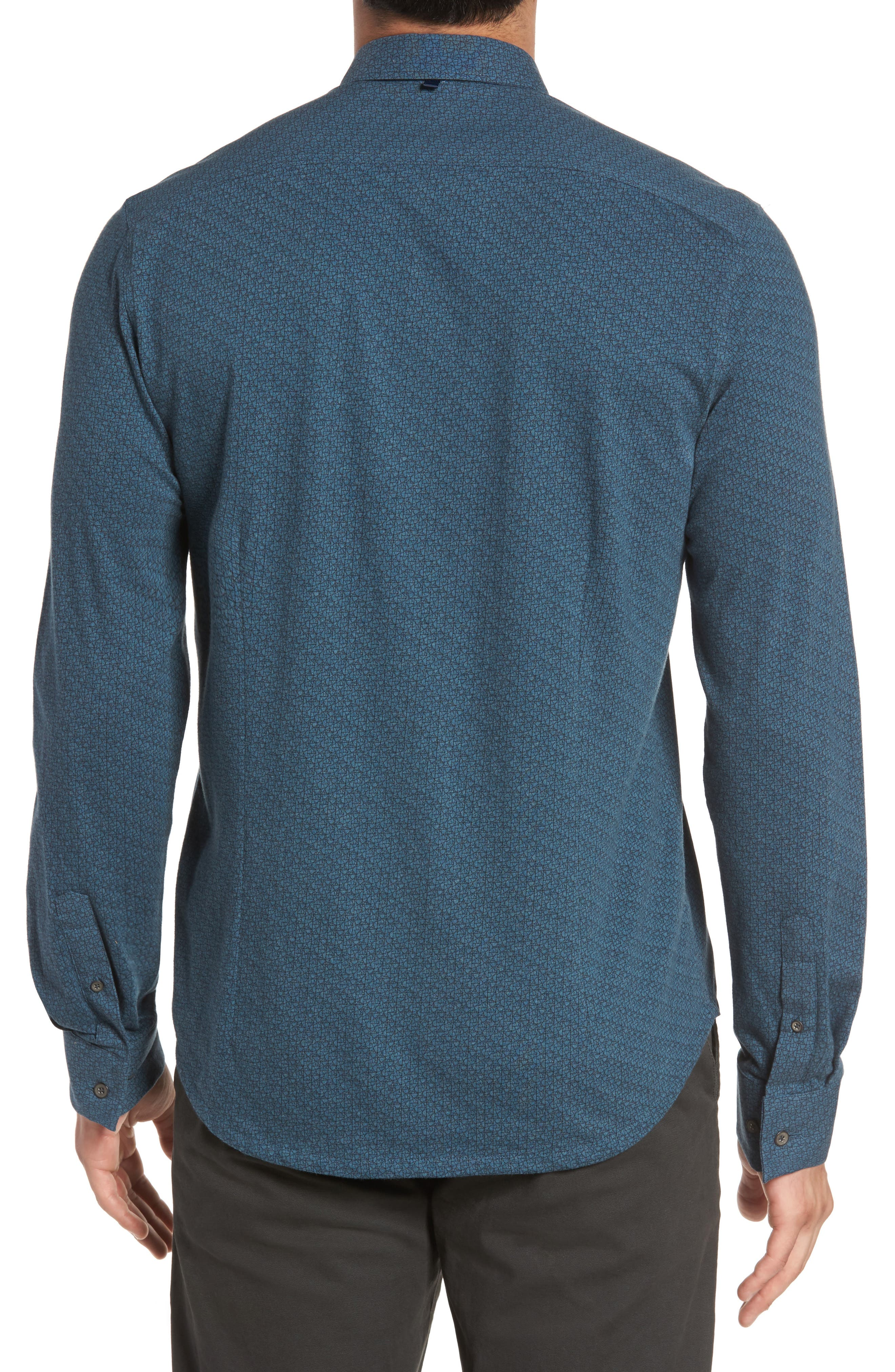Reworked Cracked Ice Sport Shirt,                             Alternate thumbnail 2, color,                             Teal