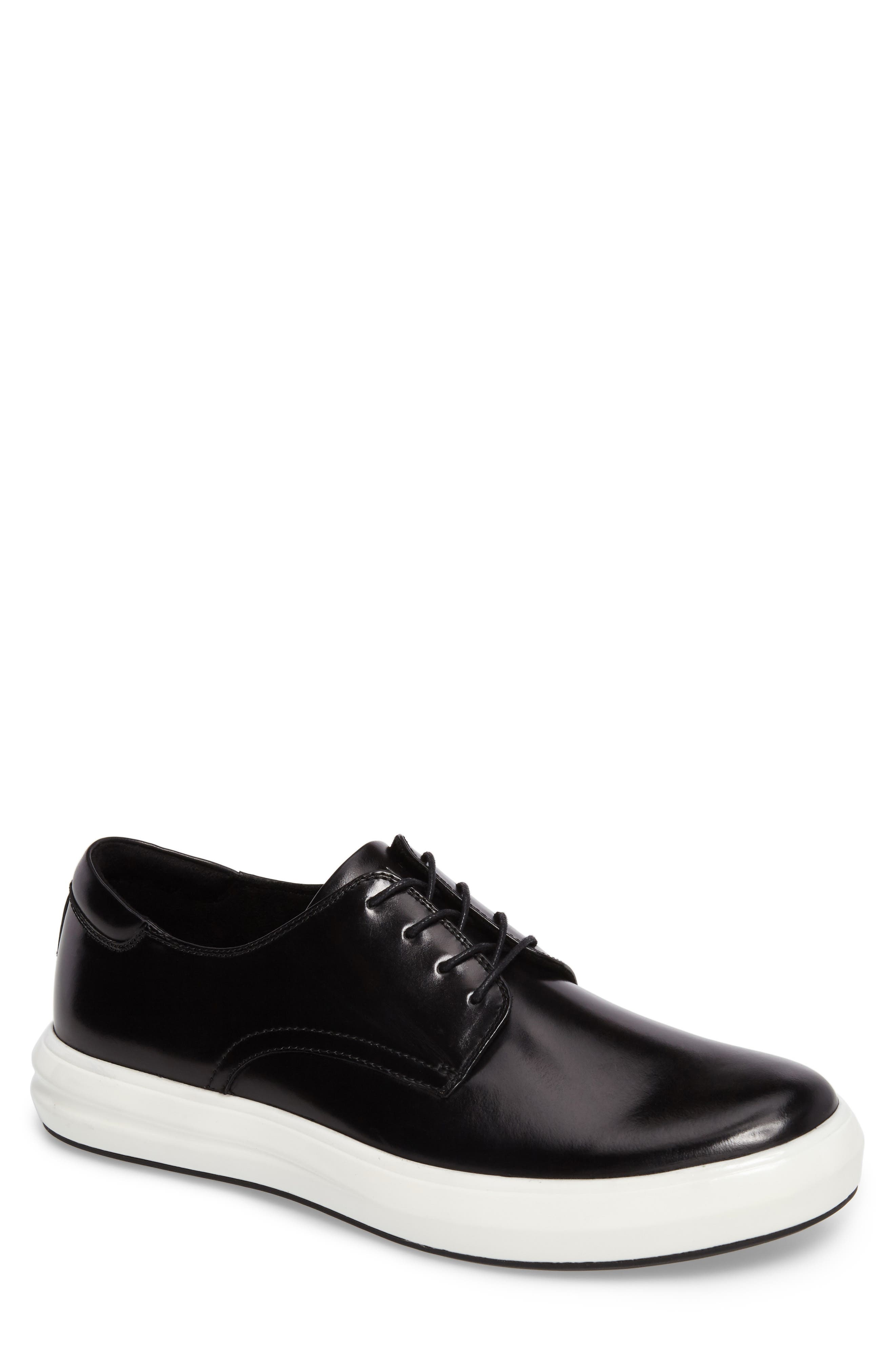 Sneaker,                         Main,                         color, Black Leather