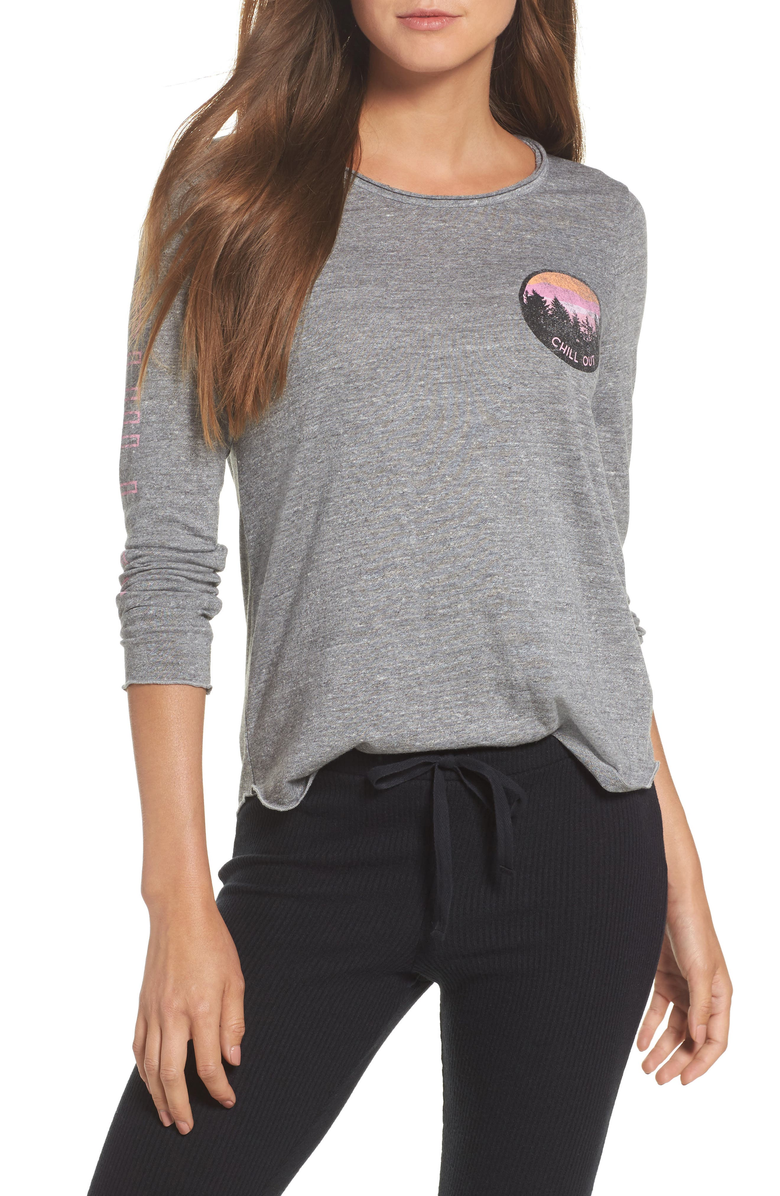 Jersey Tee,                         Main,                         color, Streaky Grey