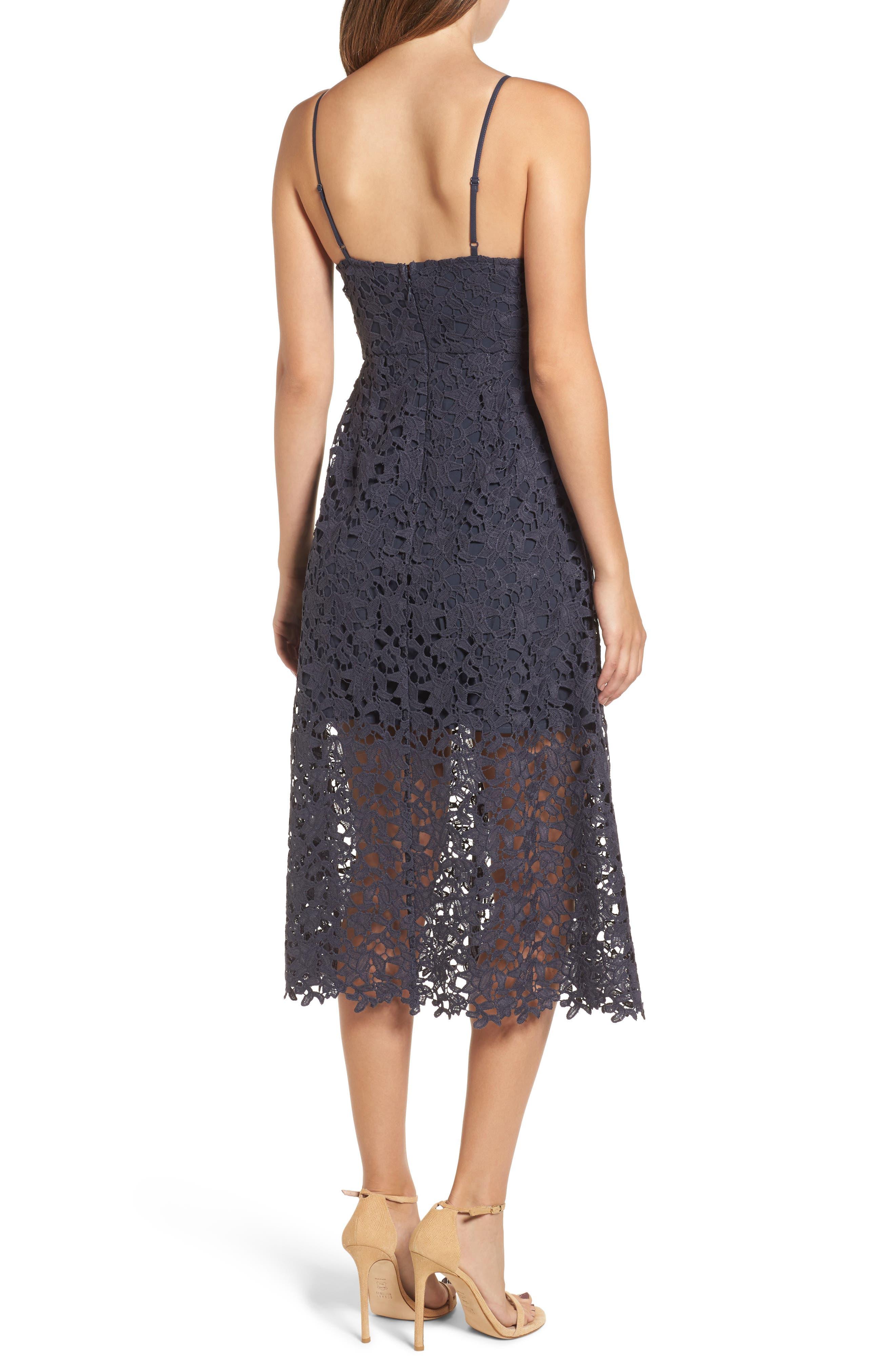 Alternate Image 2  - ASTR the Label Lace Midi Dress