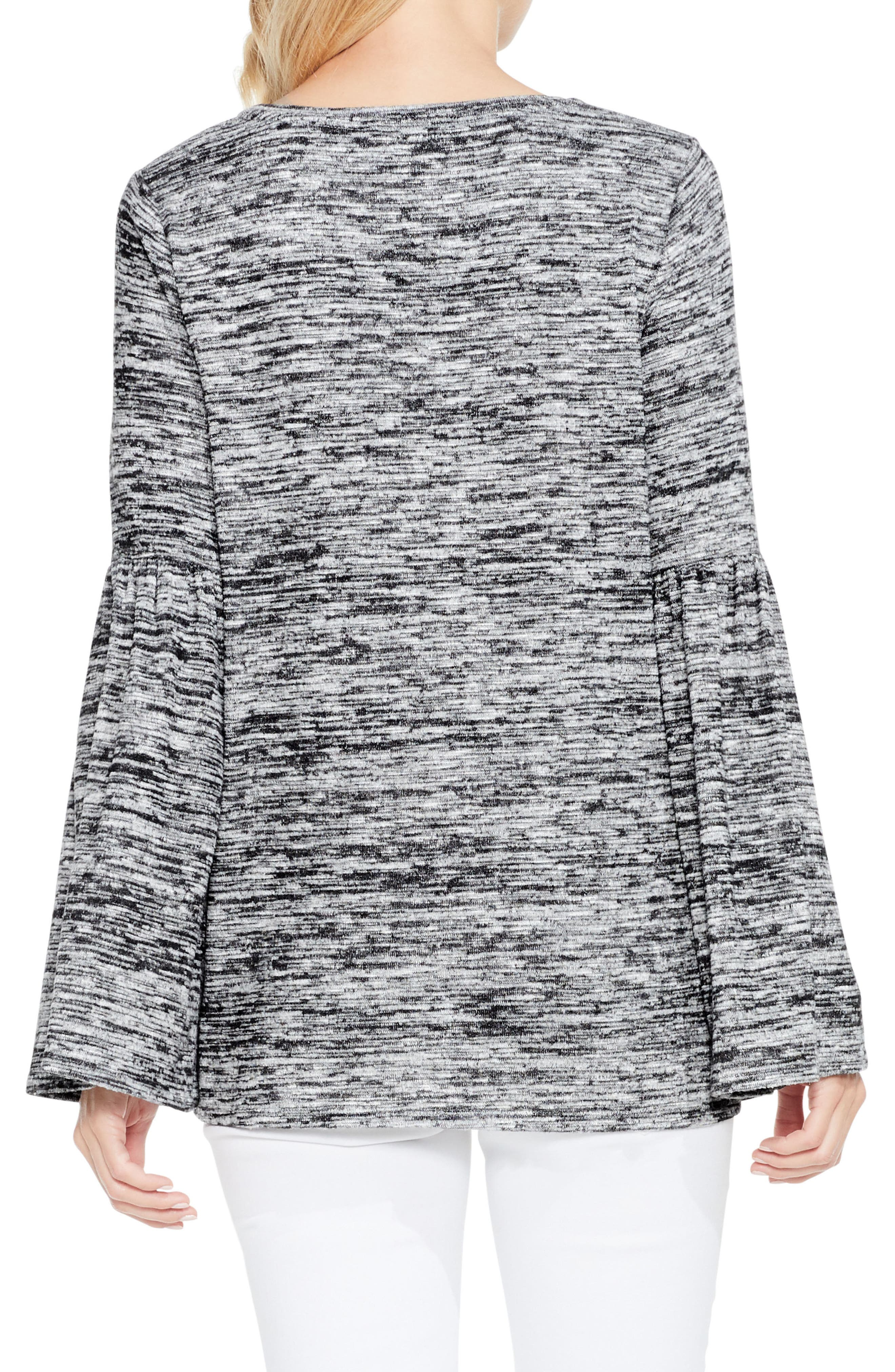 Alternate Image 3  - Two by Vince Camuto Bell Sleeve Mélange Knit Top
