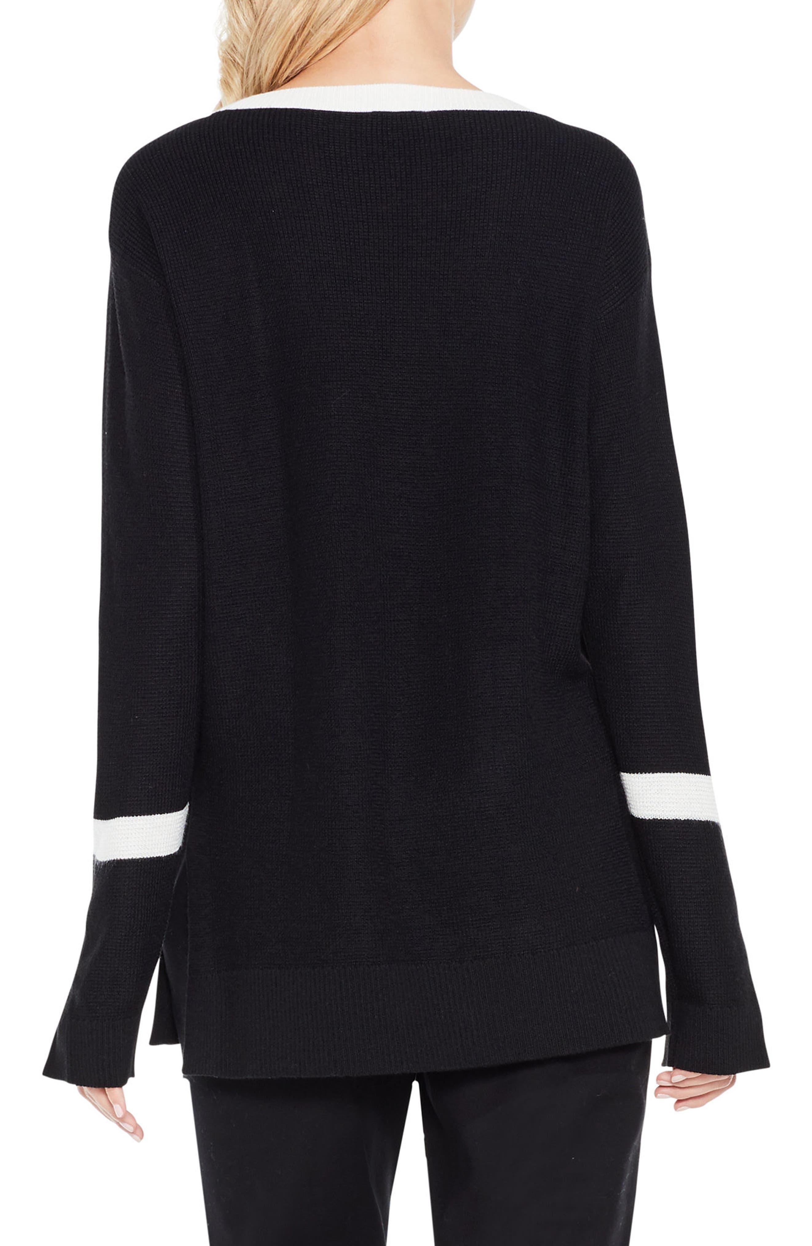 Alternate Image 2  - Vince Camuto Split Bell Sleeve Sweater