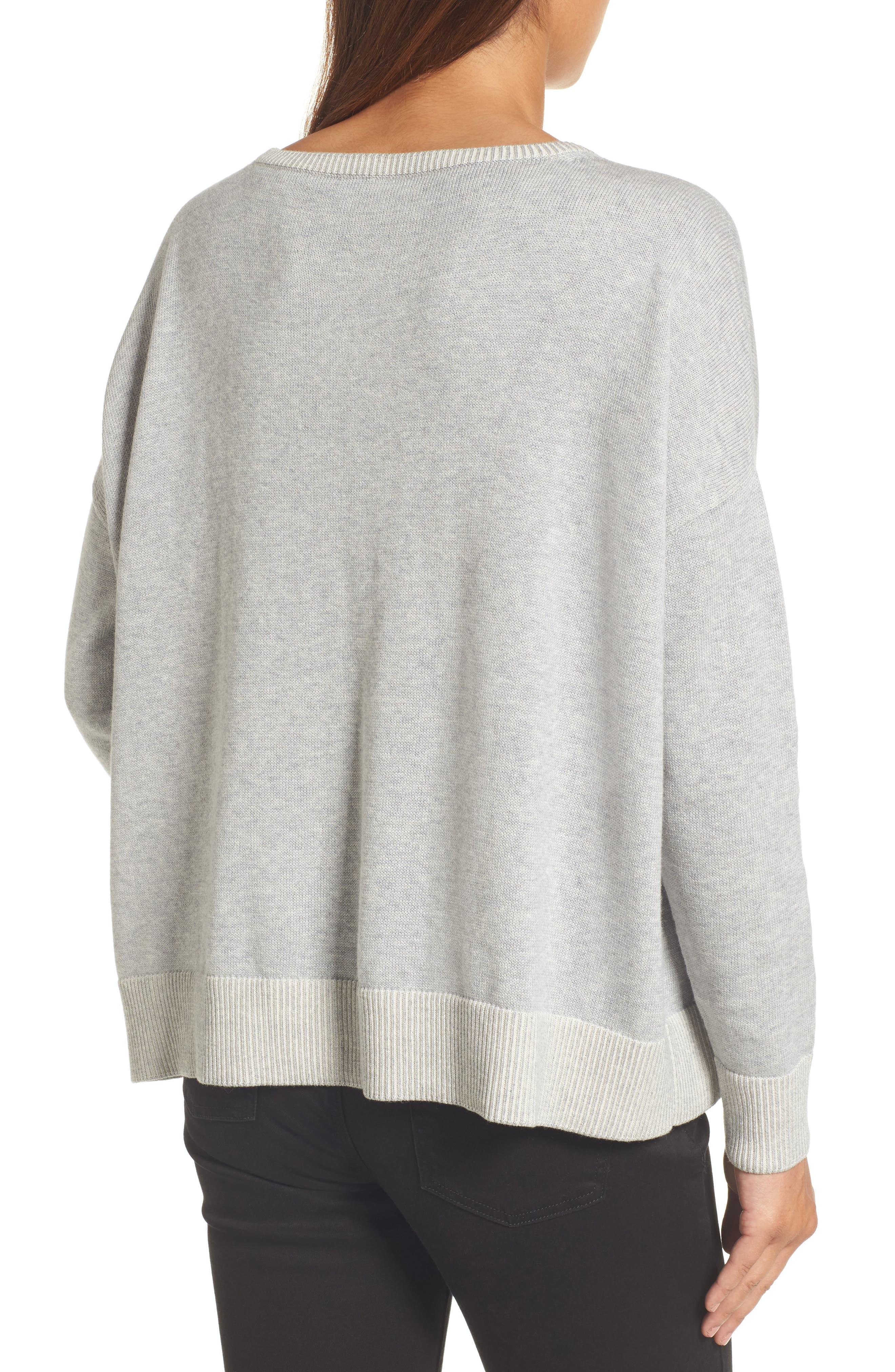 Alternate Image 2  - Eileen Fisher Plait Detail Organic Cotton Boxy Top
