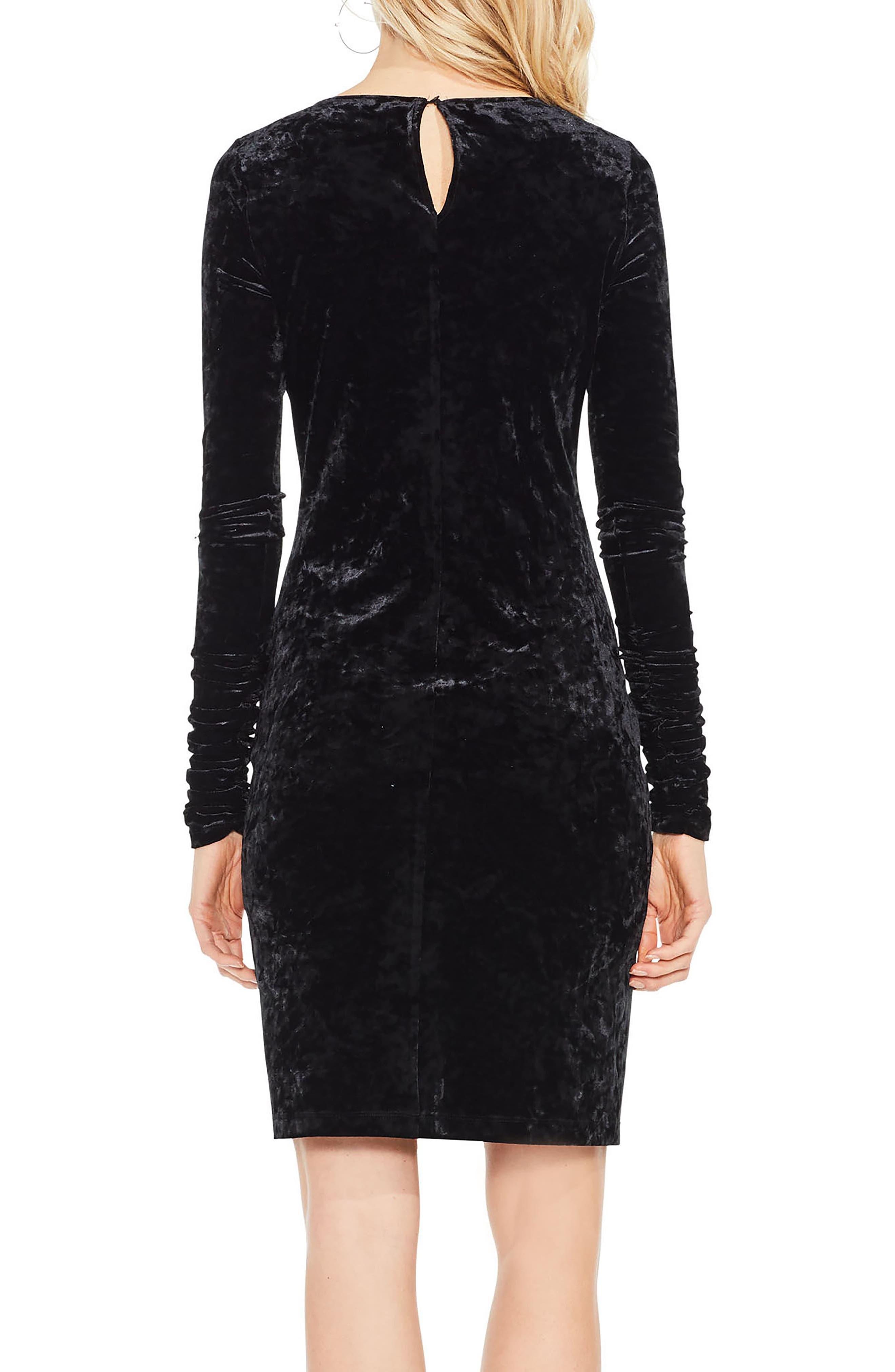 Alternate Image 3  - Vince Camuto Ruched Sleeve Crushed Velvet Dress