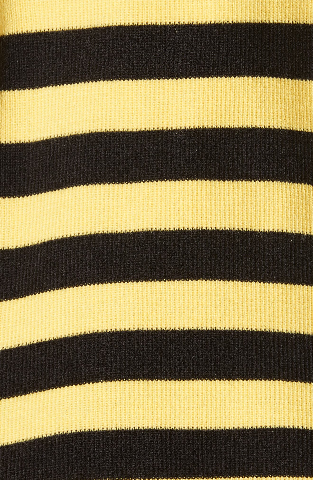 Bumblebee Stripe Sweater,                             Alternate thumbnail 5, color,                             Black Yellow