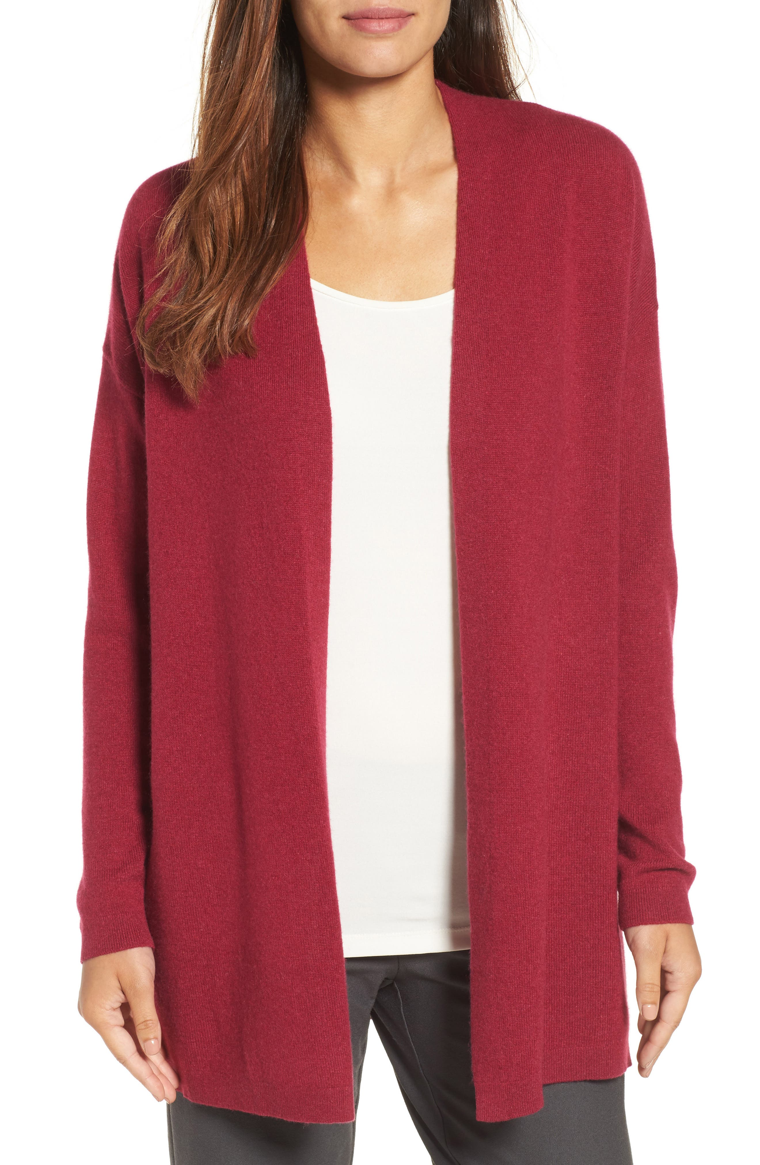 Alternate Image 1 Selected - Eileen Fisher Long Cashmere Cardigan