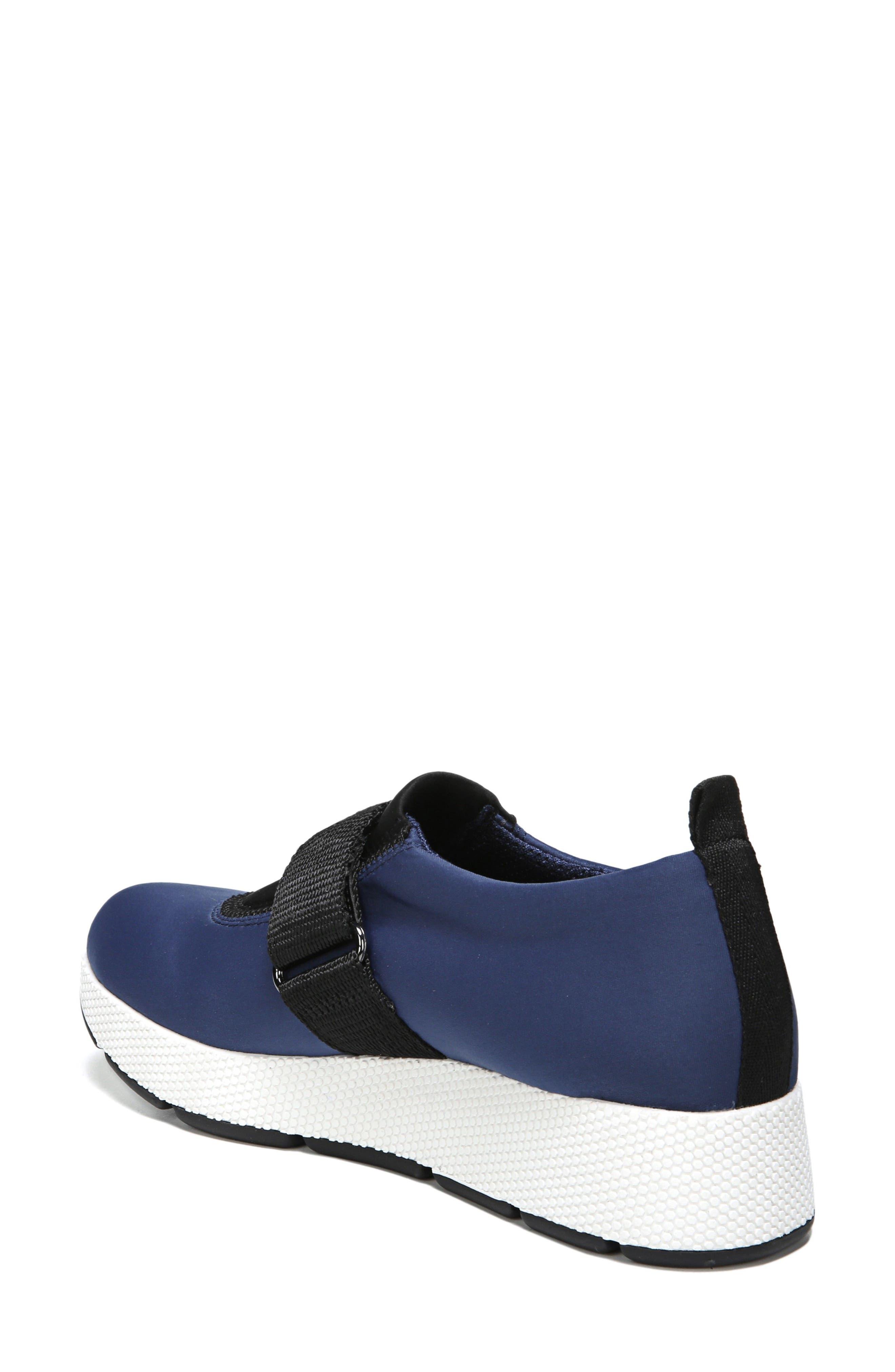 Odella Slip-On Sneaker,                             Alternate thumbnail 2, color,                             Navy Fabric