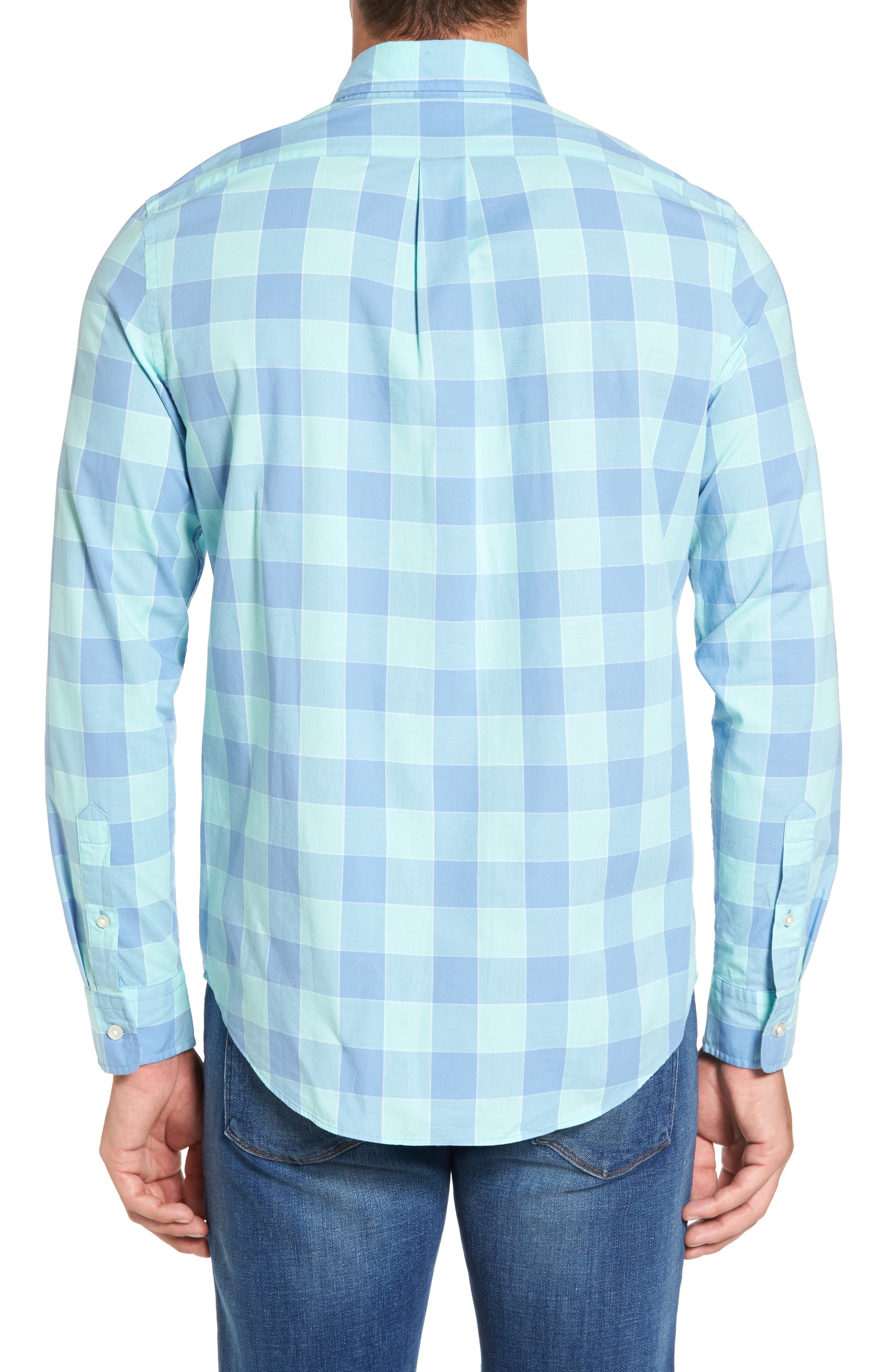 Alternate Image 2  - vineyard vines Hideaway Check Tucker Slim Fit Sport Shirt