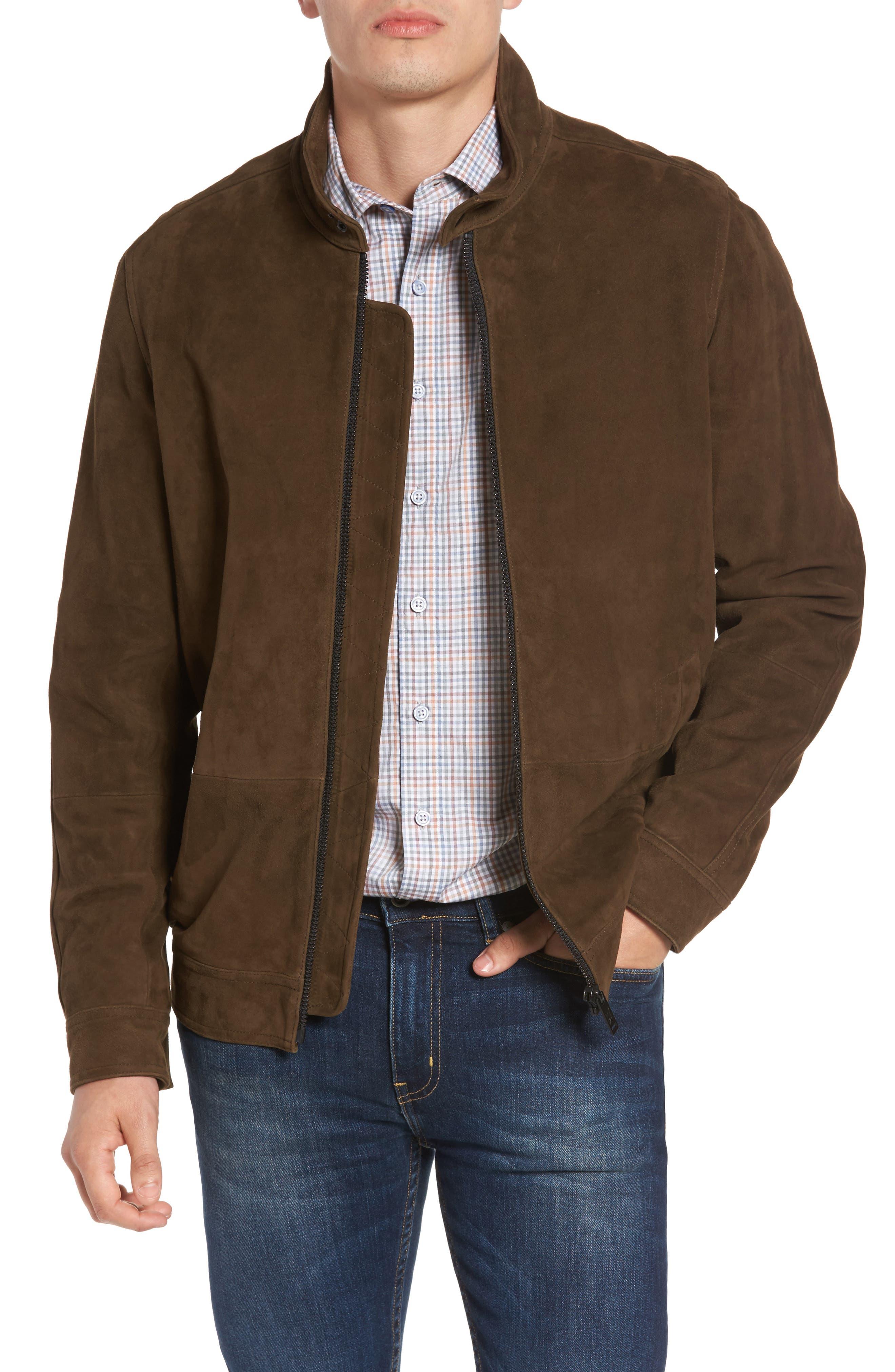 Avondale Suede Jacket,                         Main,                         color, Tan