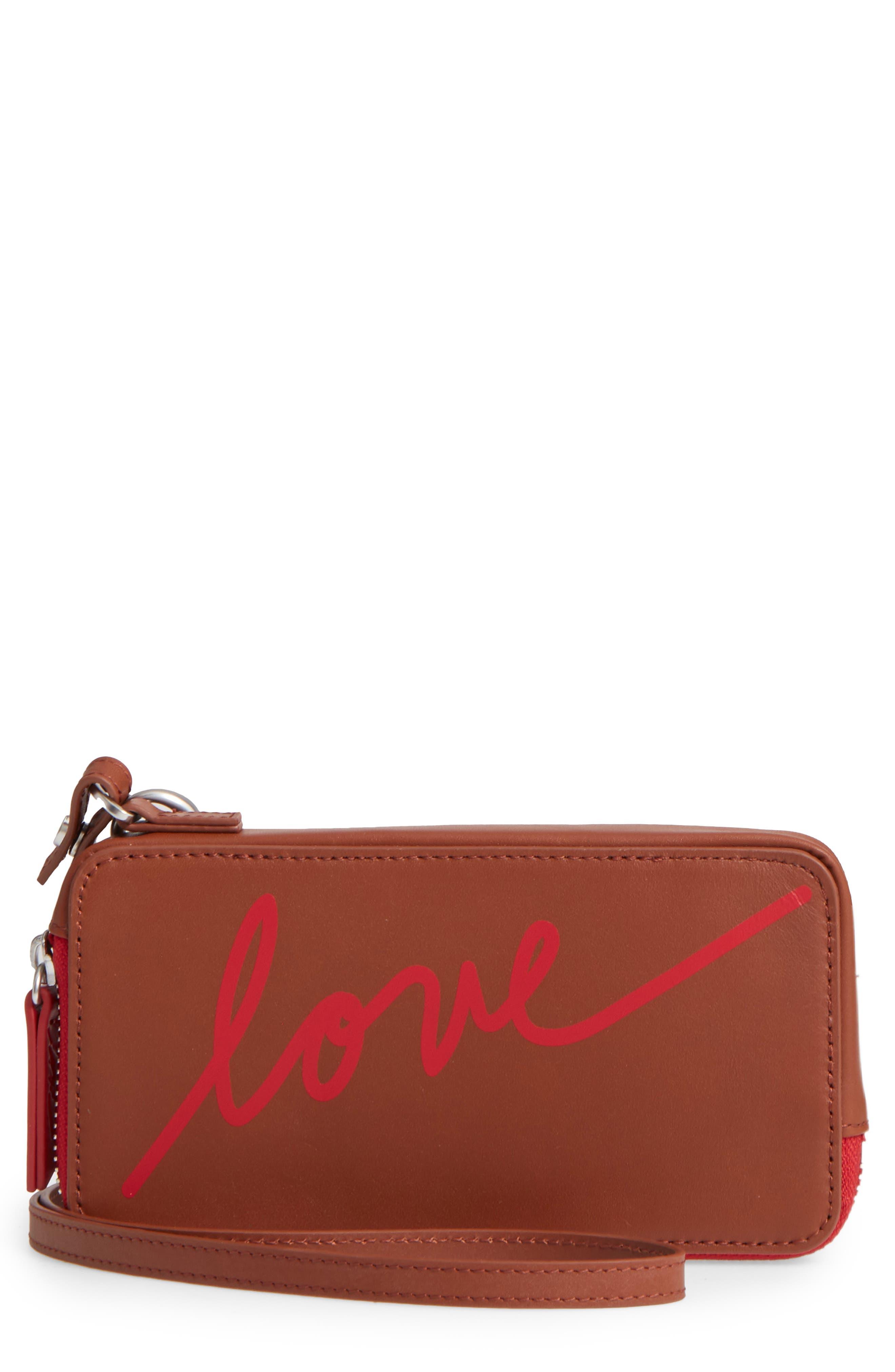 ED Ellen Degeneres Brea Convertible Smartphone Leather Clutch