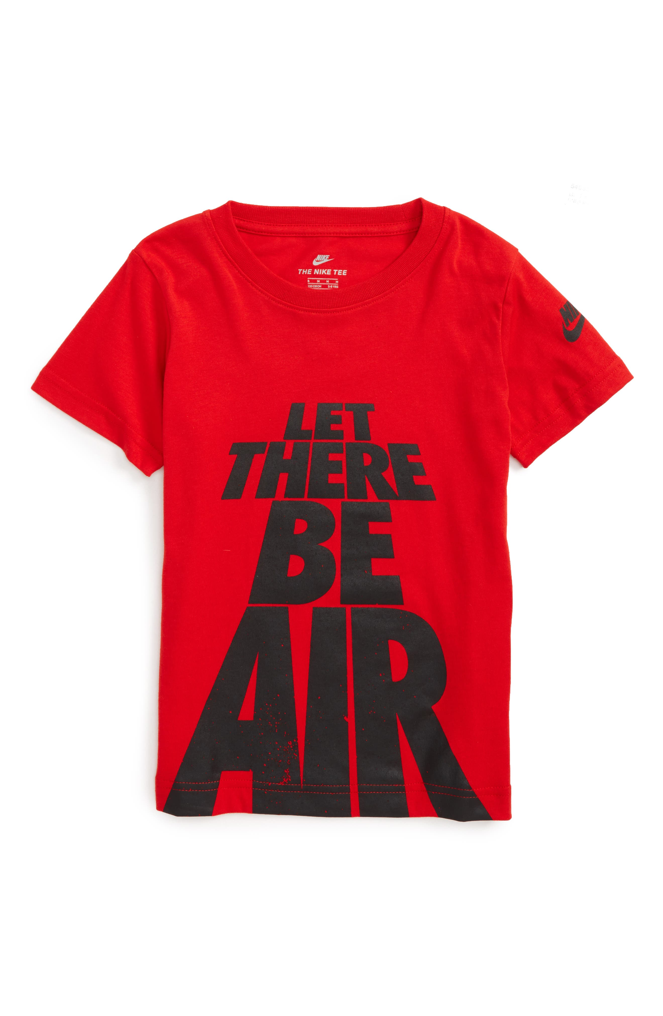 Let There Be Air T-Shirt,                         Main,                         color, University Red