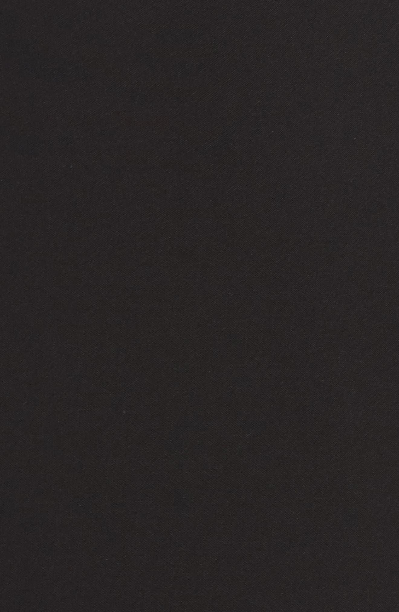Off the Shoulder Bell Sleeve Sheath Dress,                             Alternate thumbnail 5, color,                             Black